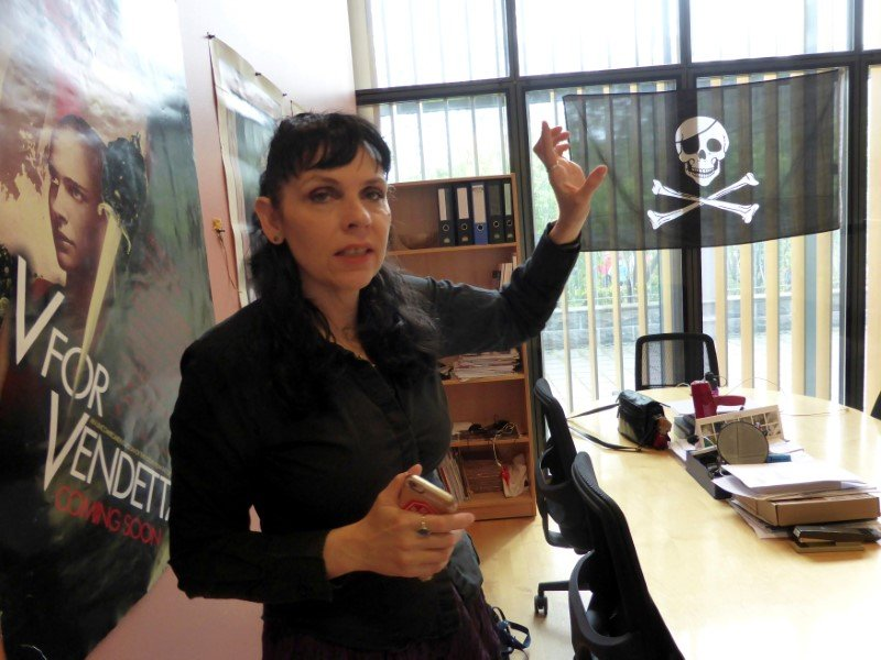 Leader of the Pirate Party of Iceland Birgitta Jonsdottir, poses for a picture at the party's office in the Icelandic Parliament in Reykjavik, Iceland, May 25, 2016. (Gwladys Fouche / Reuters File Photo)