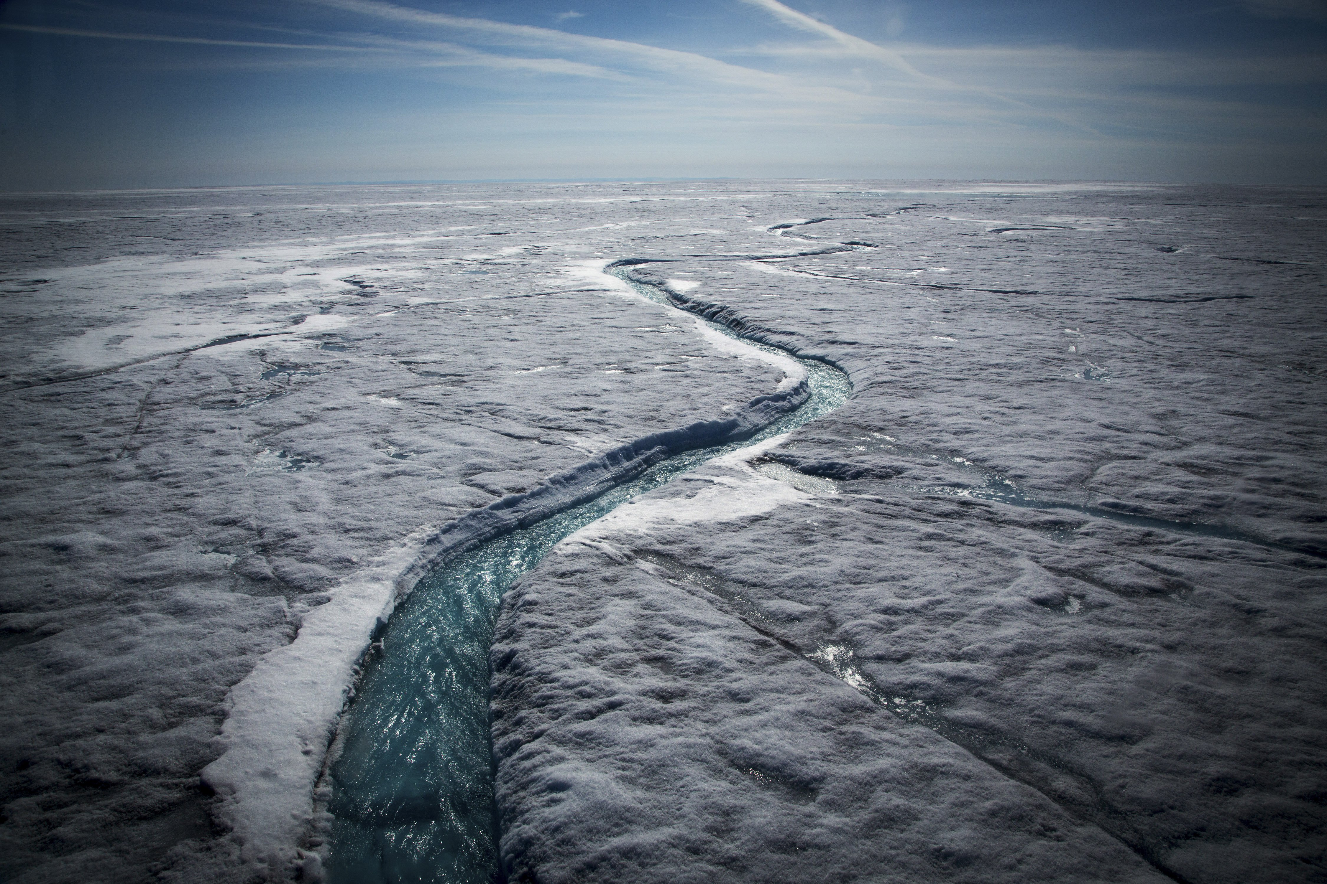 How Greenland's ice is melting from both above and below