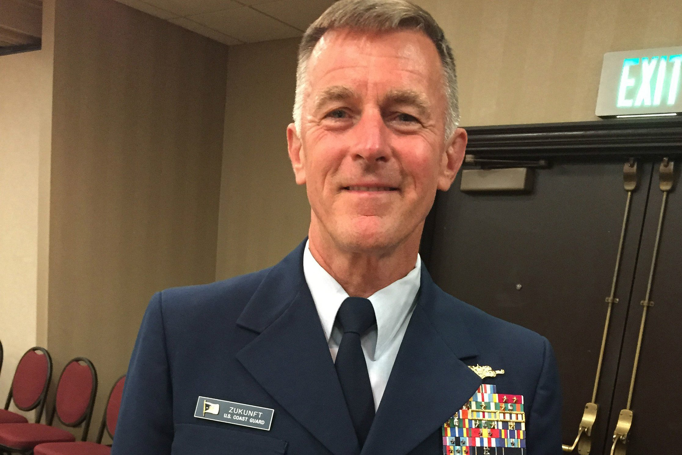 Commandant Paul Zukunft assumed the top position in the Coast Guard in 2014. Previously, his Coast Guard duty included serving as the Federal On-scene coordinator for the Deepwater Horizon Spill. (Hal Bernton / The Seattle Times / TNS)