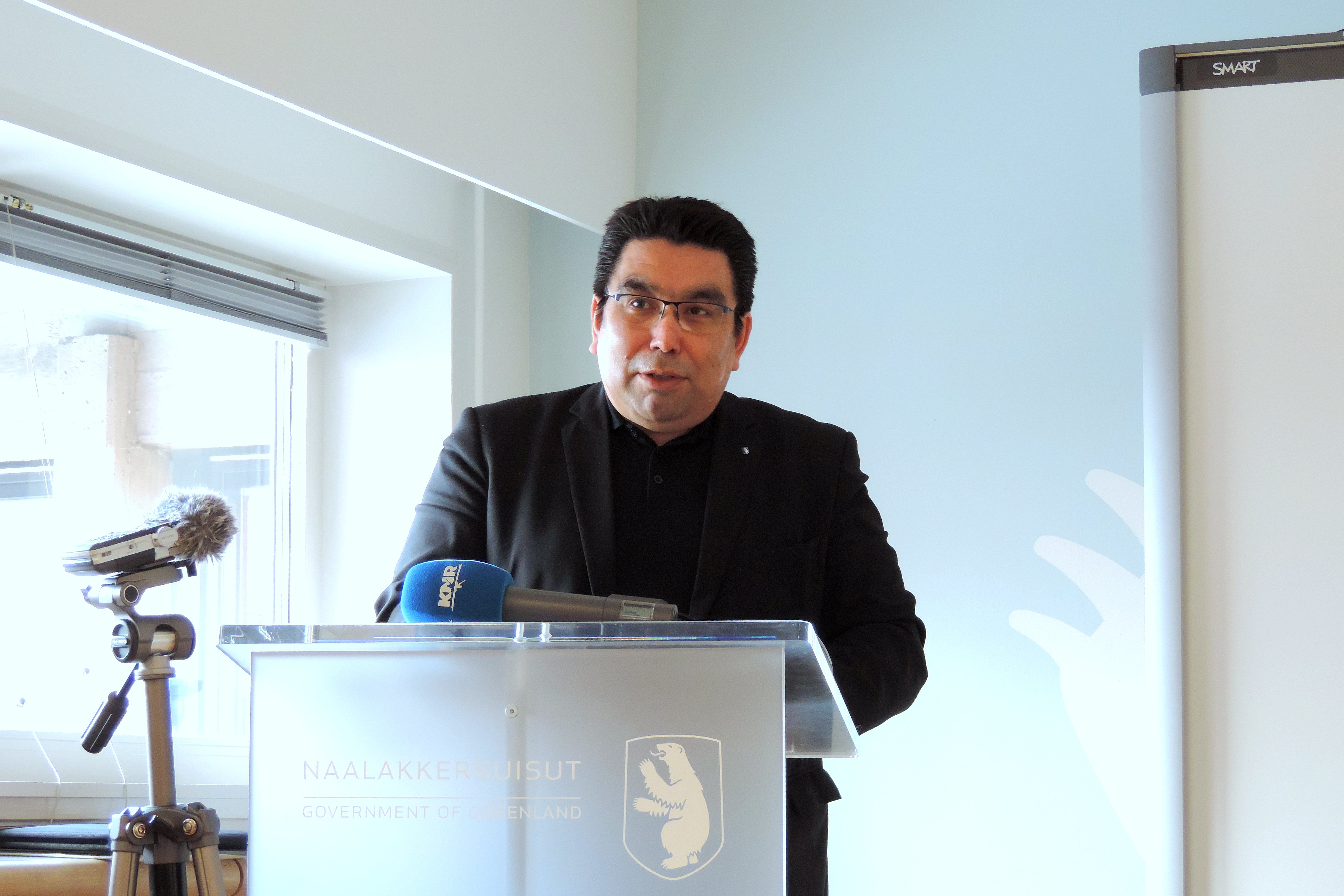 Greenland's Minister for Industry, Labour, Trade and Foreign Affairs Vittus Qujaukitsoq (Department of Foreign Affairs / Government of Greenland )