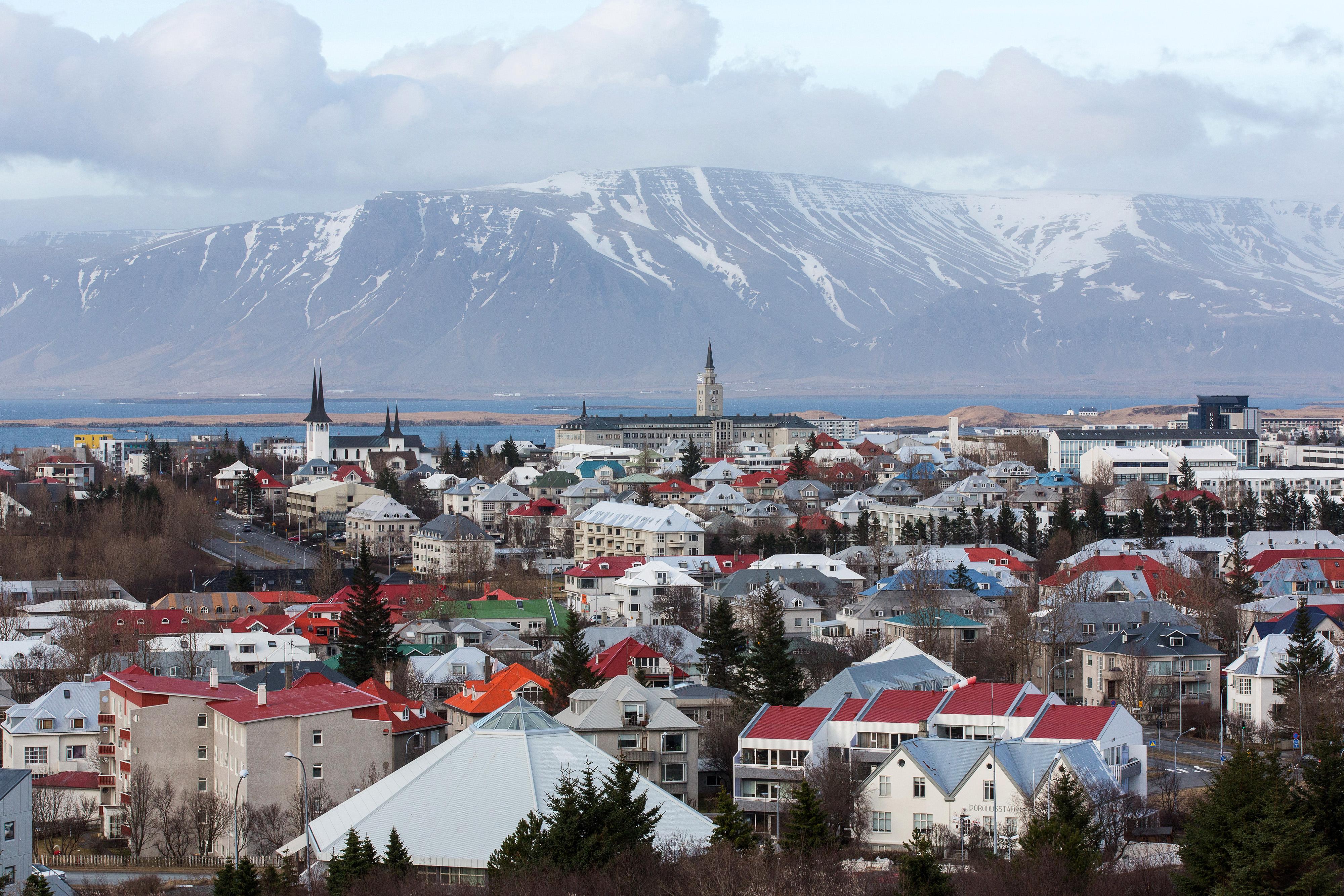 The city skyline of Reykjavik, Iceland, on April 7, 2016. (Arnaldur Halldorsson / Bloomberg)
