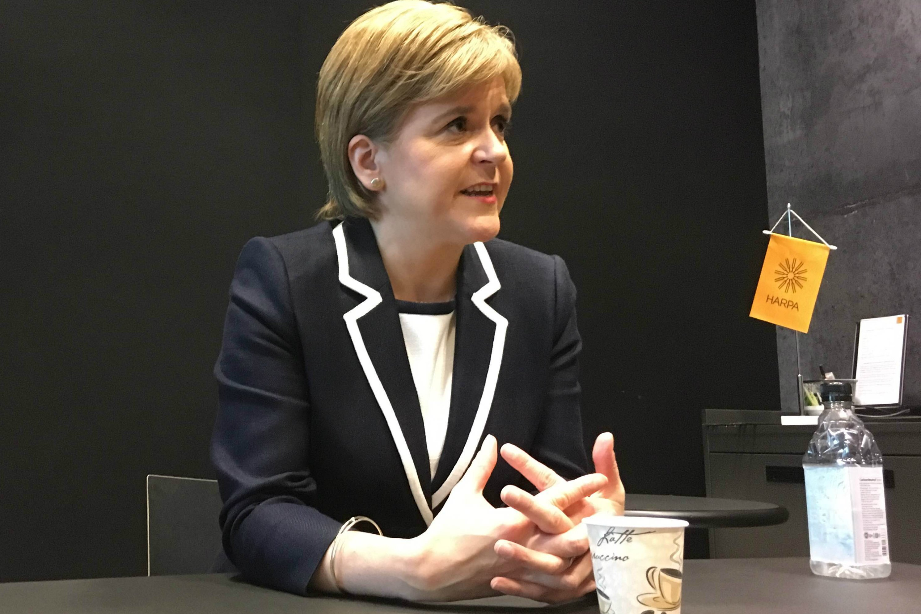 Scottish First Minister Nicola Sturgeon speaks of Scotland's ties to Nordic nations and the Arctic, at the Arctic Circle Assembly conference in Reykjavik, Iceland, October 7, 2016. (Krestia DeGeorge / Alaska Dispatch News)