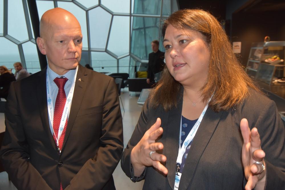 Taro Vauraste and Tara Sweeney from the Arctic Economic Council. (Thomas Nilsen / The Barents Observer)