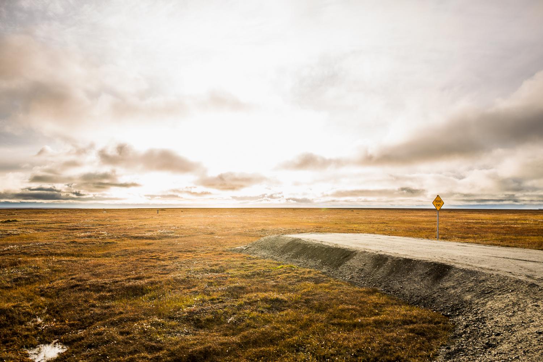 A road near Kaktovik, Alaska overlooks the Arctic National Wildlife Refuge. (Loren Holmes / Alaska Dispatch News archive)