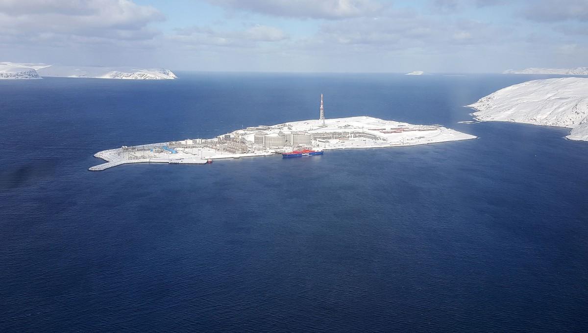 The Melkøya LNG plant on Norway's Barents Sea coast. (Thomas Nilsen / The Independent Barents Observer)
