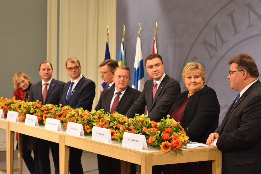 Nordic and Baltic Prime Ministers met in Copenhagen on Nov. 2, 2016. (Thomas Nilsen / The Independent Barents Observer)