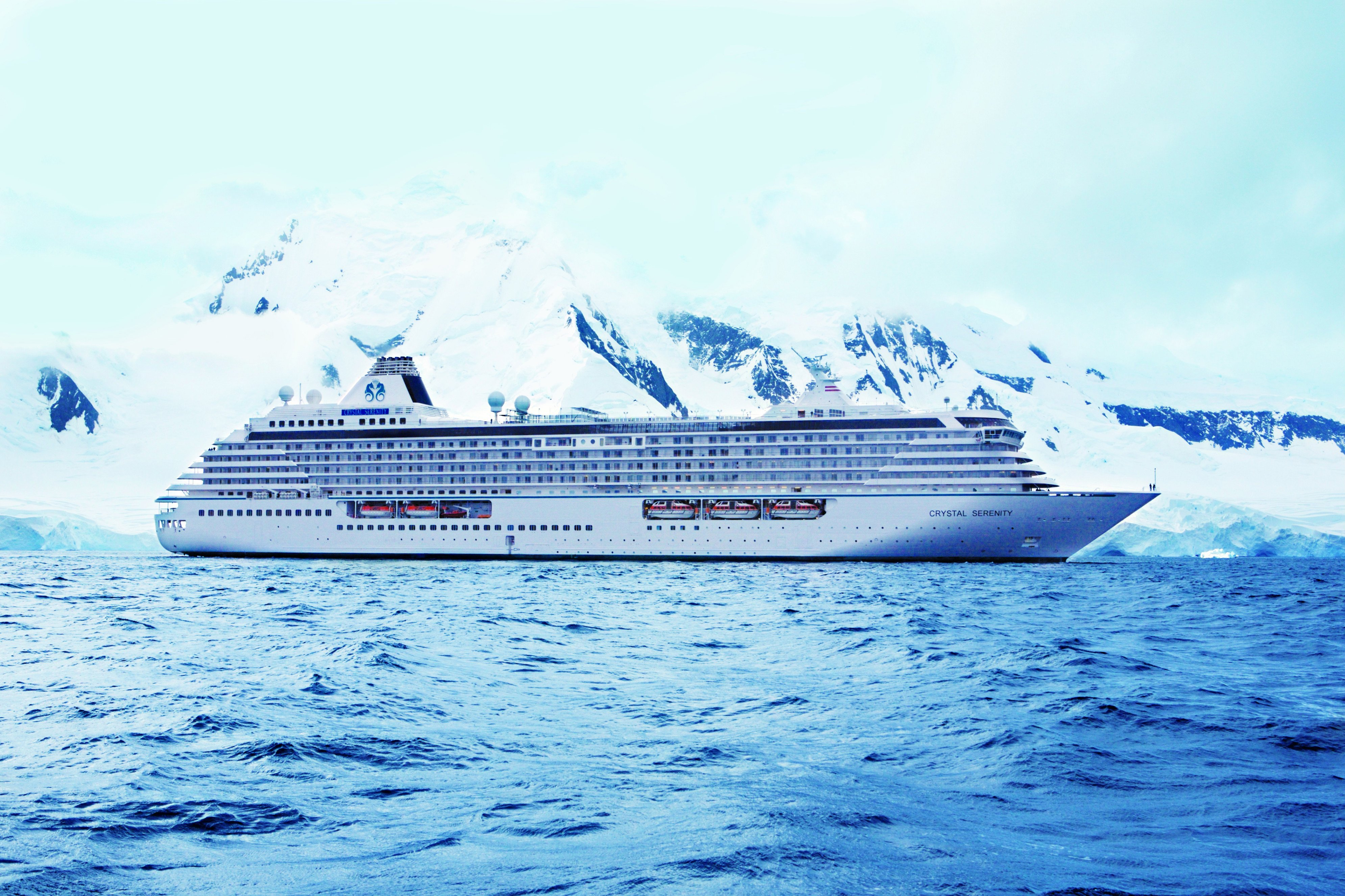 In an undated handout photo, the cruise ship Crystal Serenity sails waters off Antarctica. The ship is slated to sail the Northwest Passage in 2016 carrying nearly 1,700 passengers and crewmembers. (Courtesy Crystal Cruises)