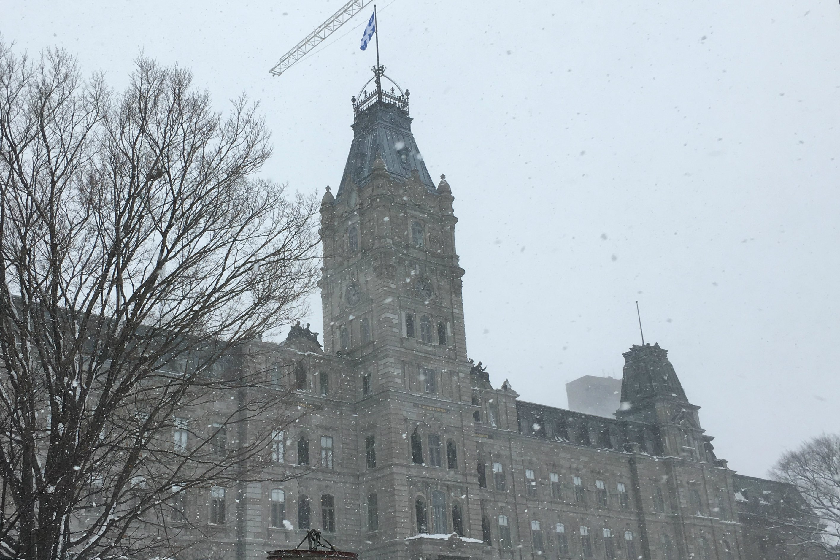 The Parliament Building in Quebec City, Quebec, home of the Parliament of Quebec, on Dec. 12, 2016. (Krestia DeGeorge / Arctic Now)