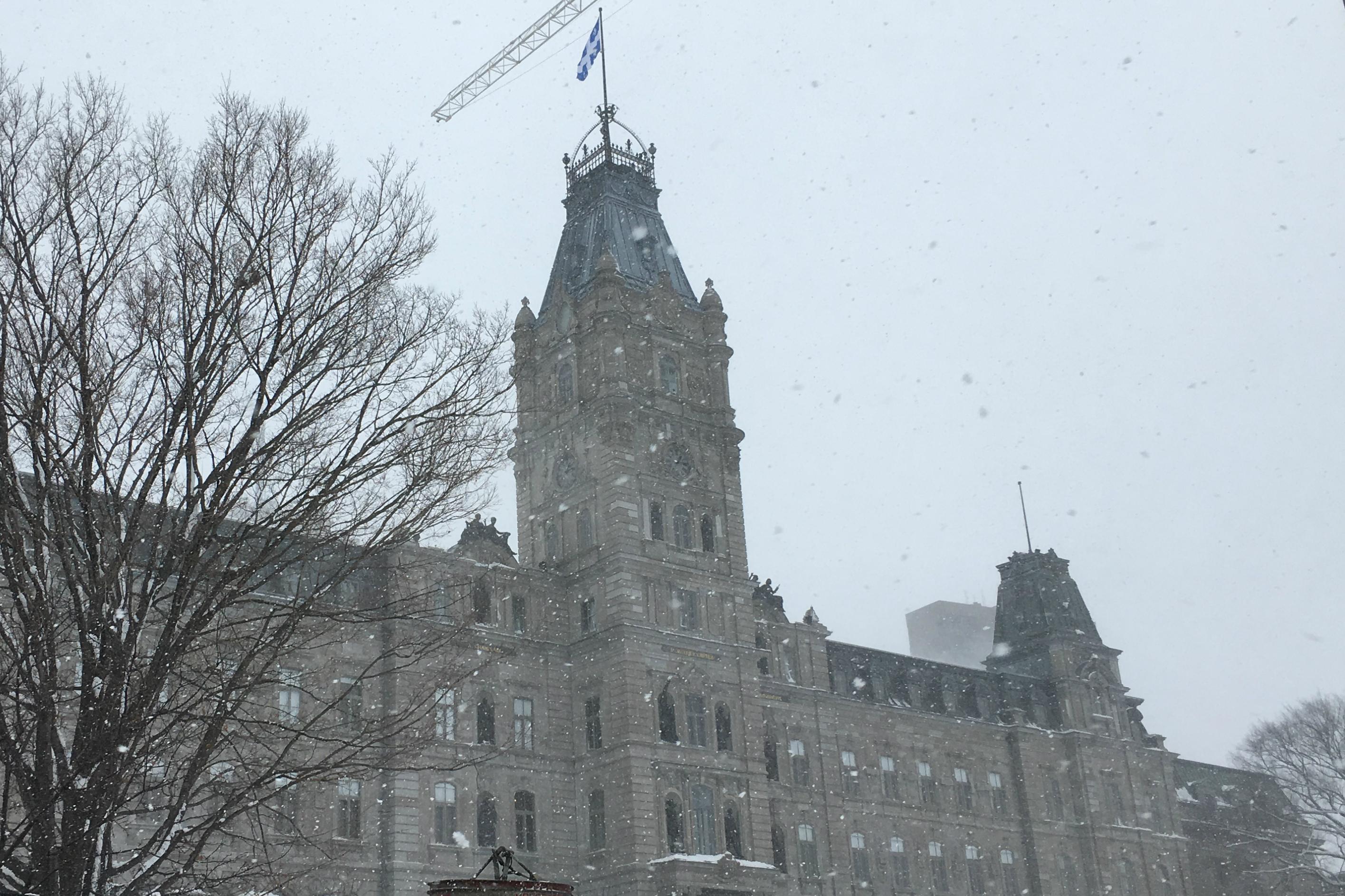 The Parliament Building in Quebec City, Quebec, home of the Parliament of Quebec, on Dec. 12, 2016. (Krestia DeGeorge / Arctic Now)