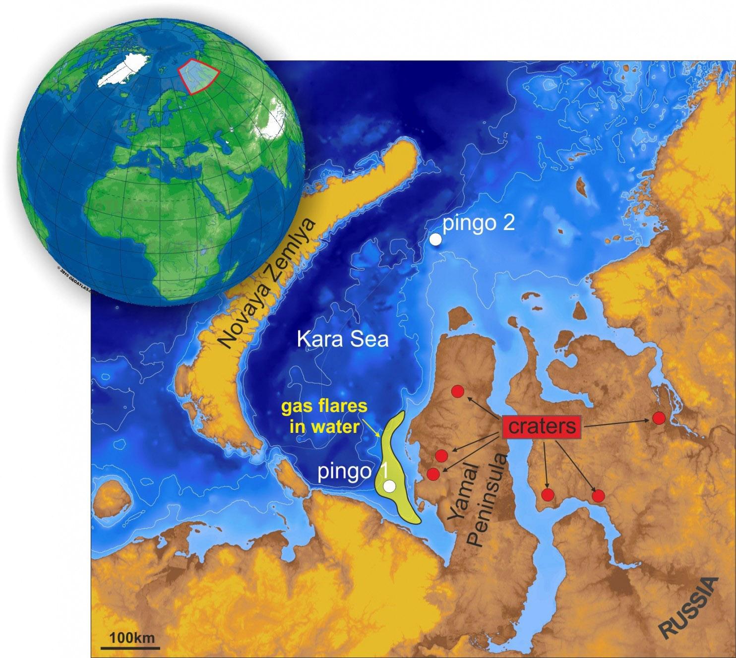 Oil industry fears new Yamal sinkholes