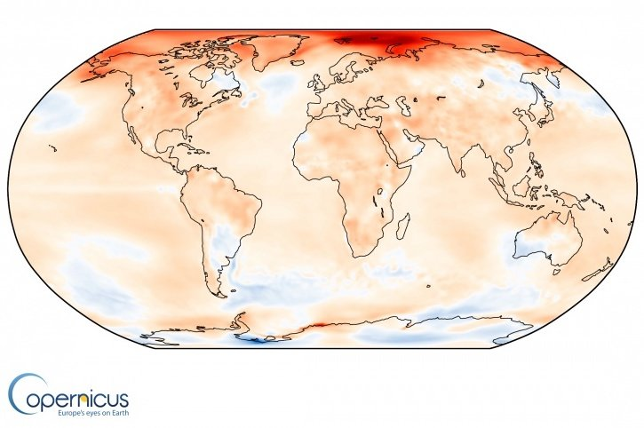 Report: 2016 was Earth's hottest year on record by a wide margin, especially in Arctic