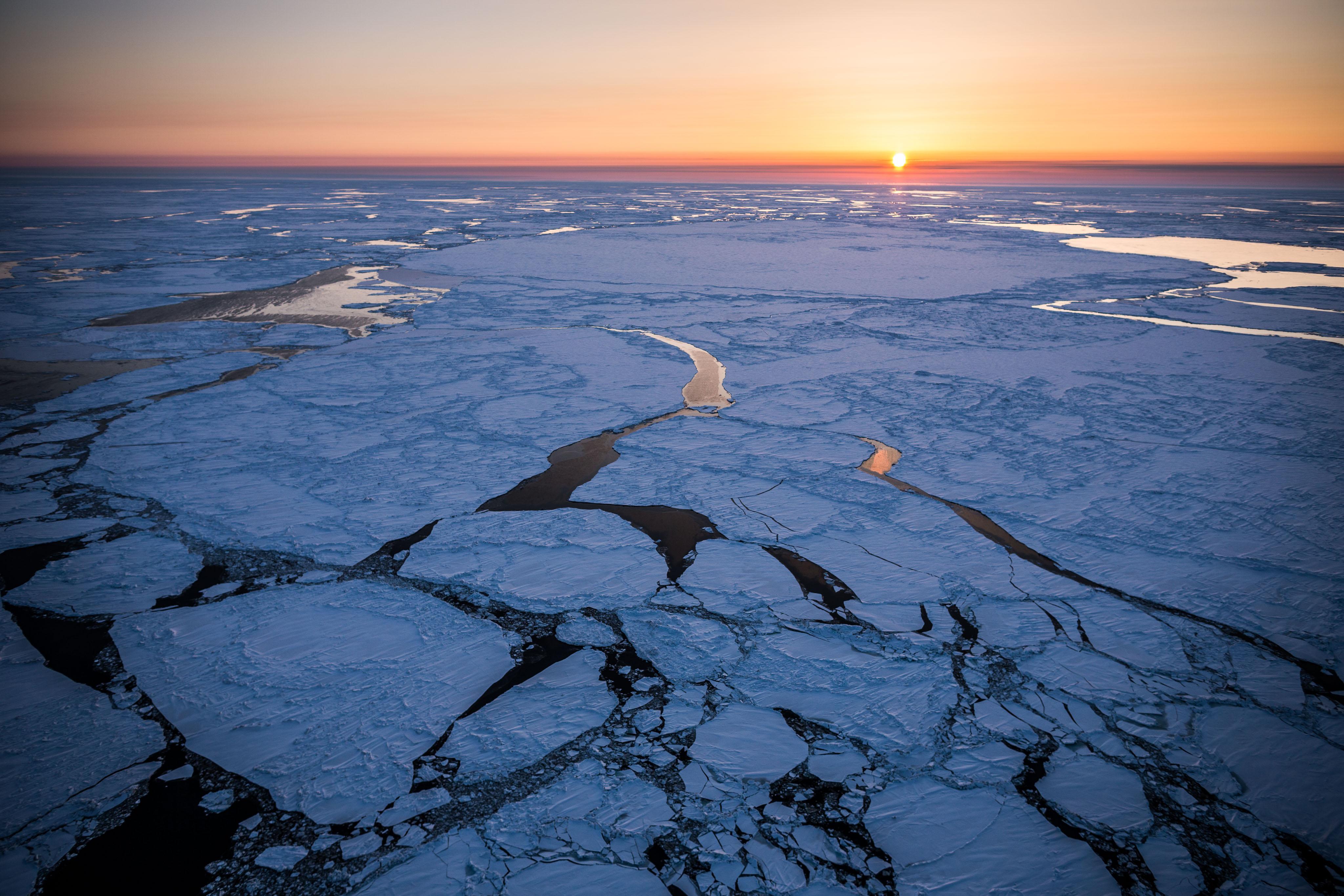 "64°55'29"" N 168°10'29"" W Bering Sea, March 13, 2013. (Loren Holmes / Alaska Dispatch News)"