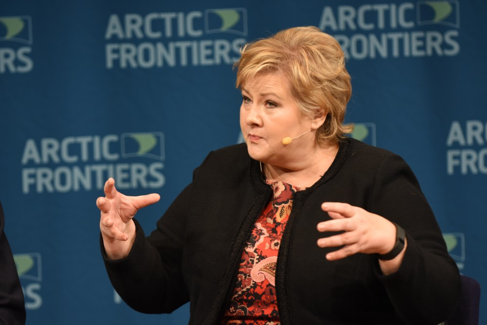Arctic oil can help solve climate challenges, Norway PM says