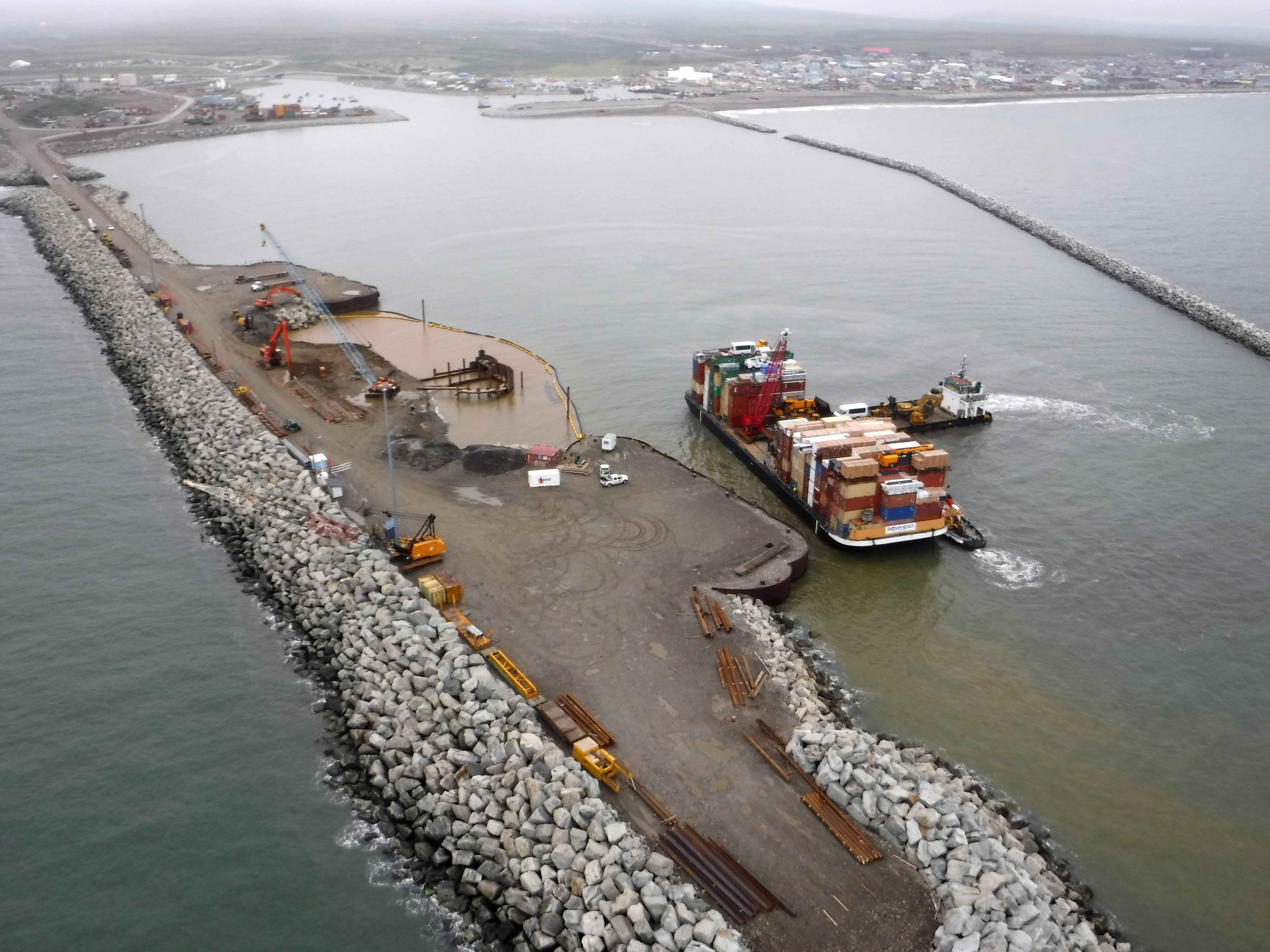 The US federal government has greenlighted the next phase of Nome's port expansion