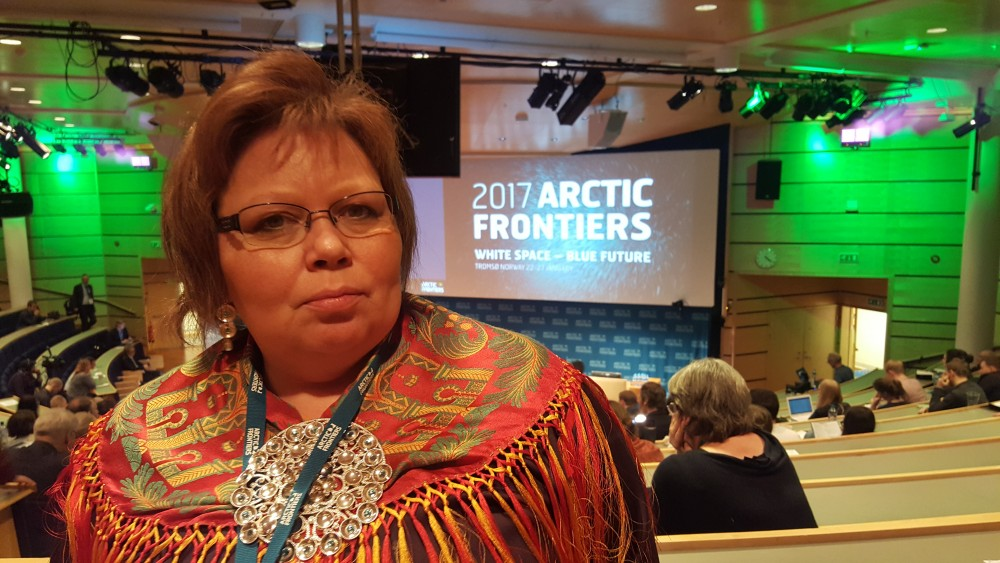 President of the Sami Parliament in Norway Vibeke Larsen. (Thomas Nilsen / The Independent Barents Observer)