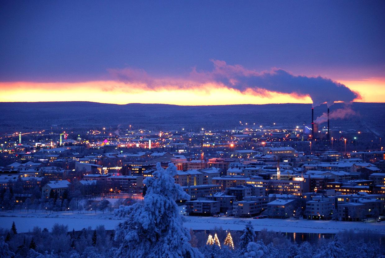 City Center of Rovaniemi seen from Ounasvaara. (Gerald Zojer / CC via Wikimedia)