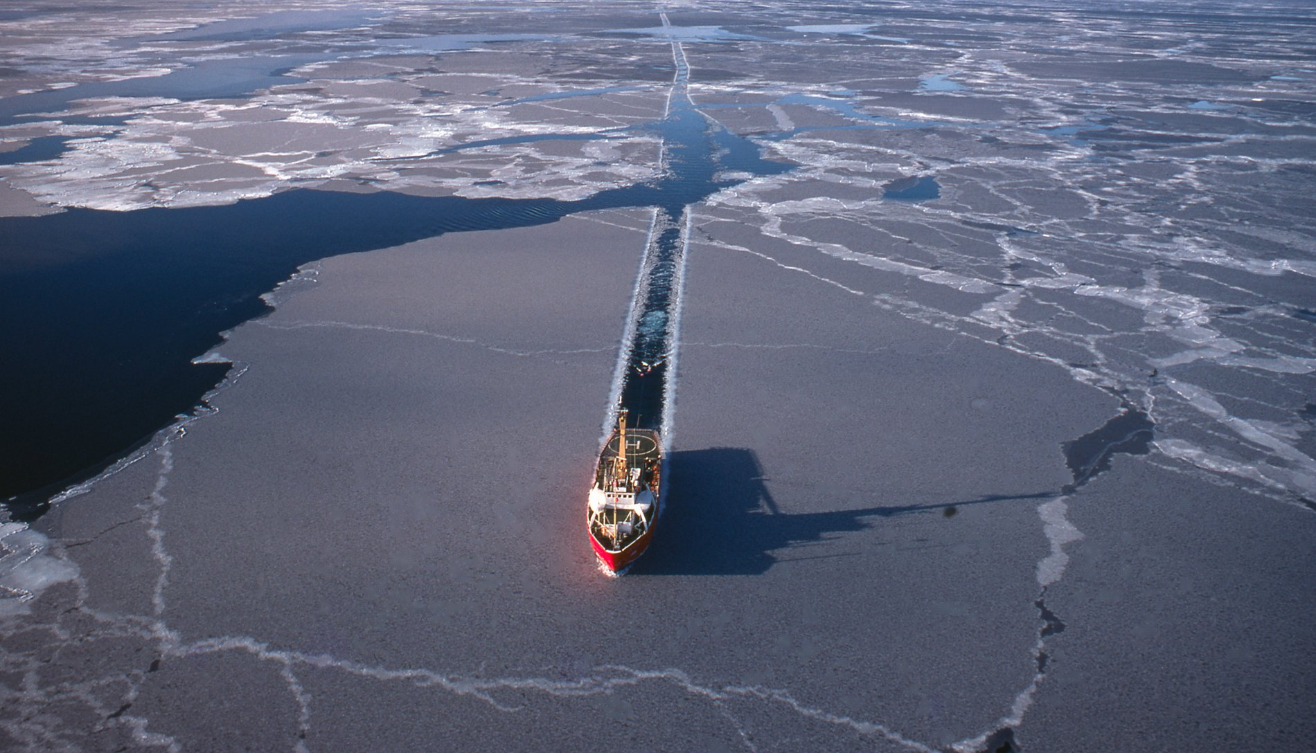 Marine seismic testing being carried out in the Arctic. (Getty)