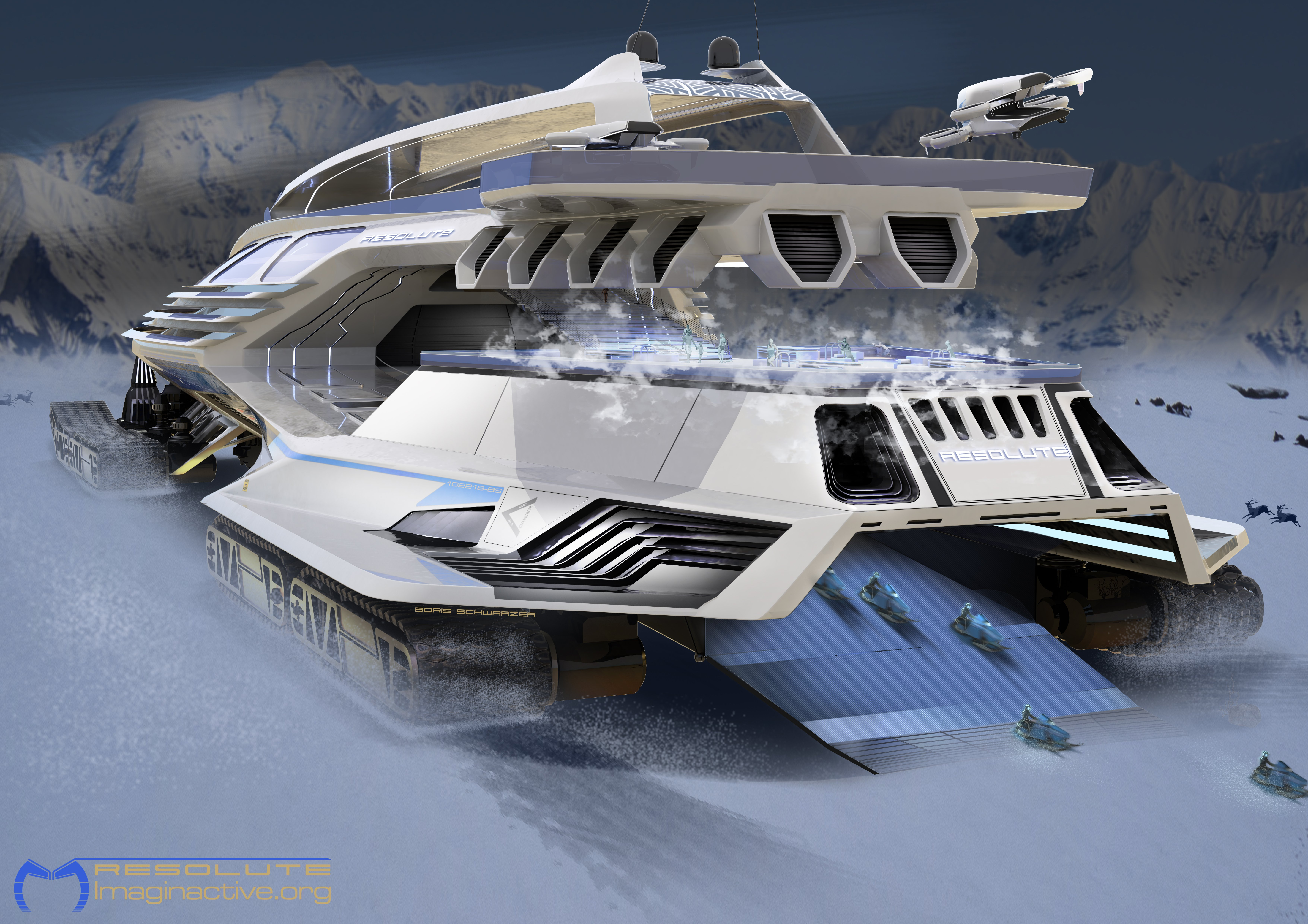 Is this massive all-terrain vehicle the future of Arctic cruising and research expeditions?