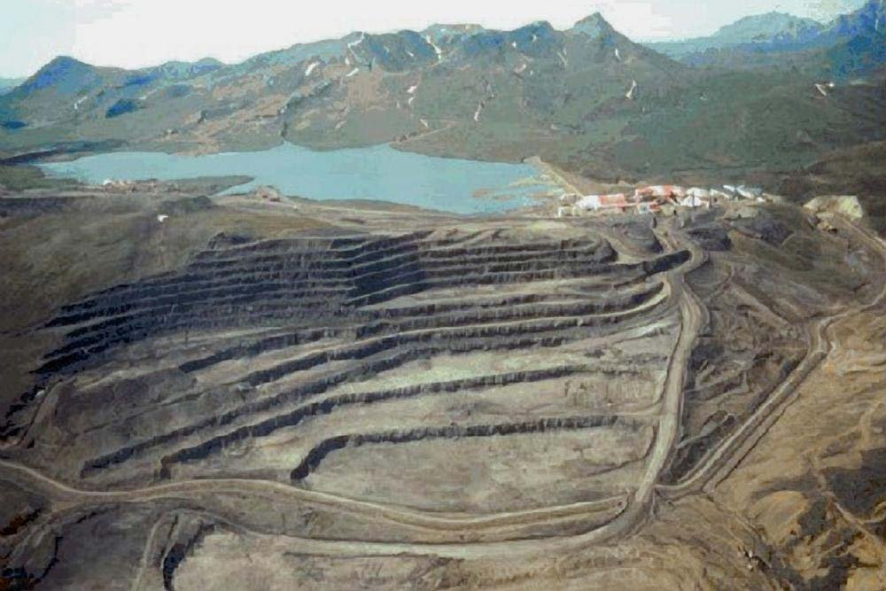 An undated file photo shows an aerial view of the Red Dog Mine, in Alaska's Northwest Arctic Borough. (EPA)
