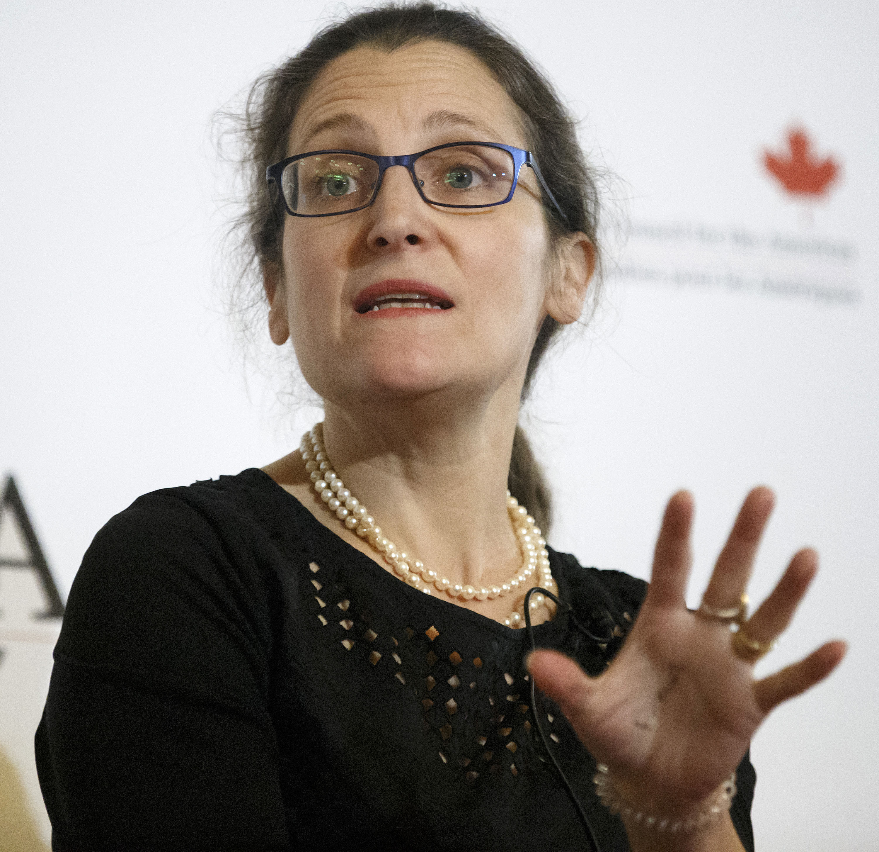 Canada's foreign minister says Russia is spreading disinformation about her grandfather