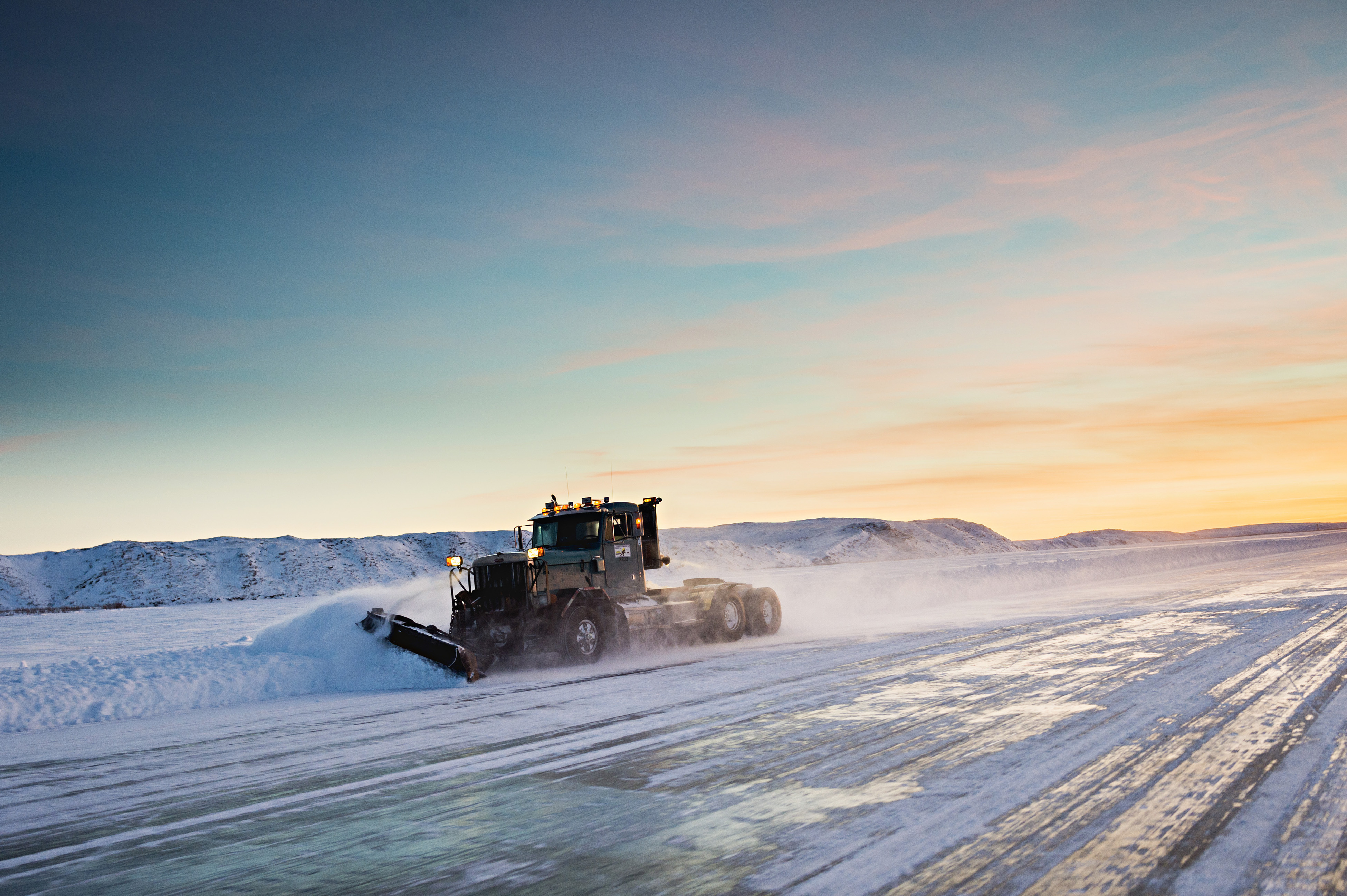 Ice roads ease isolation in Canada's north, but they're melting too soon