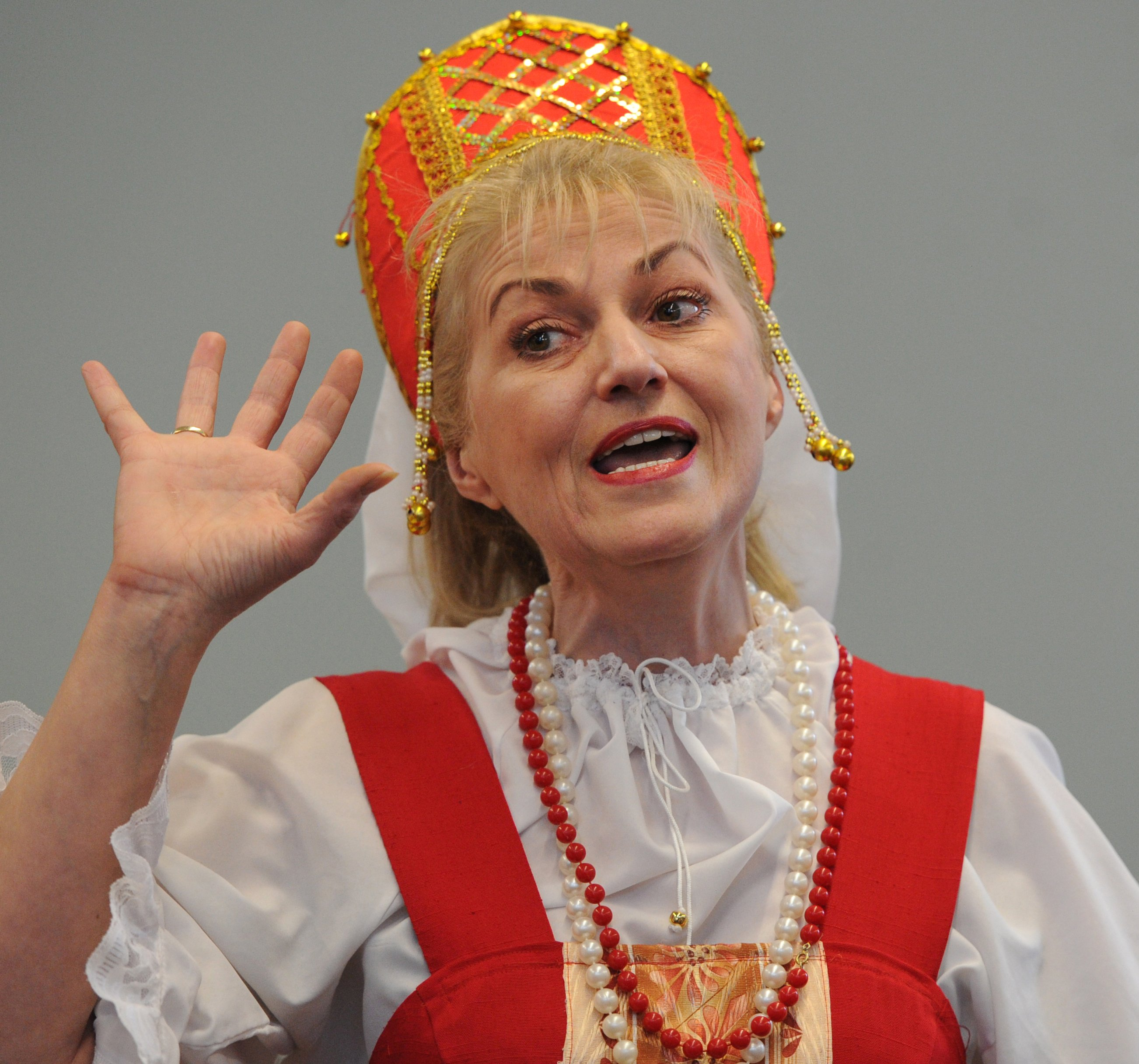 Russian performer uncovers raw feelings about the Alaska purchase of 1867