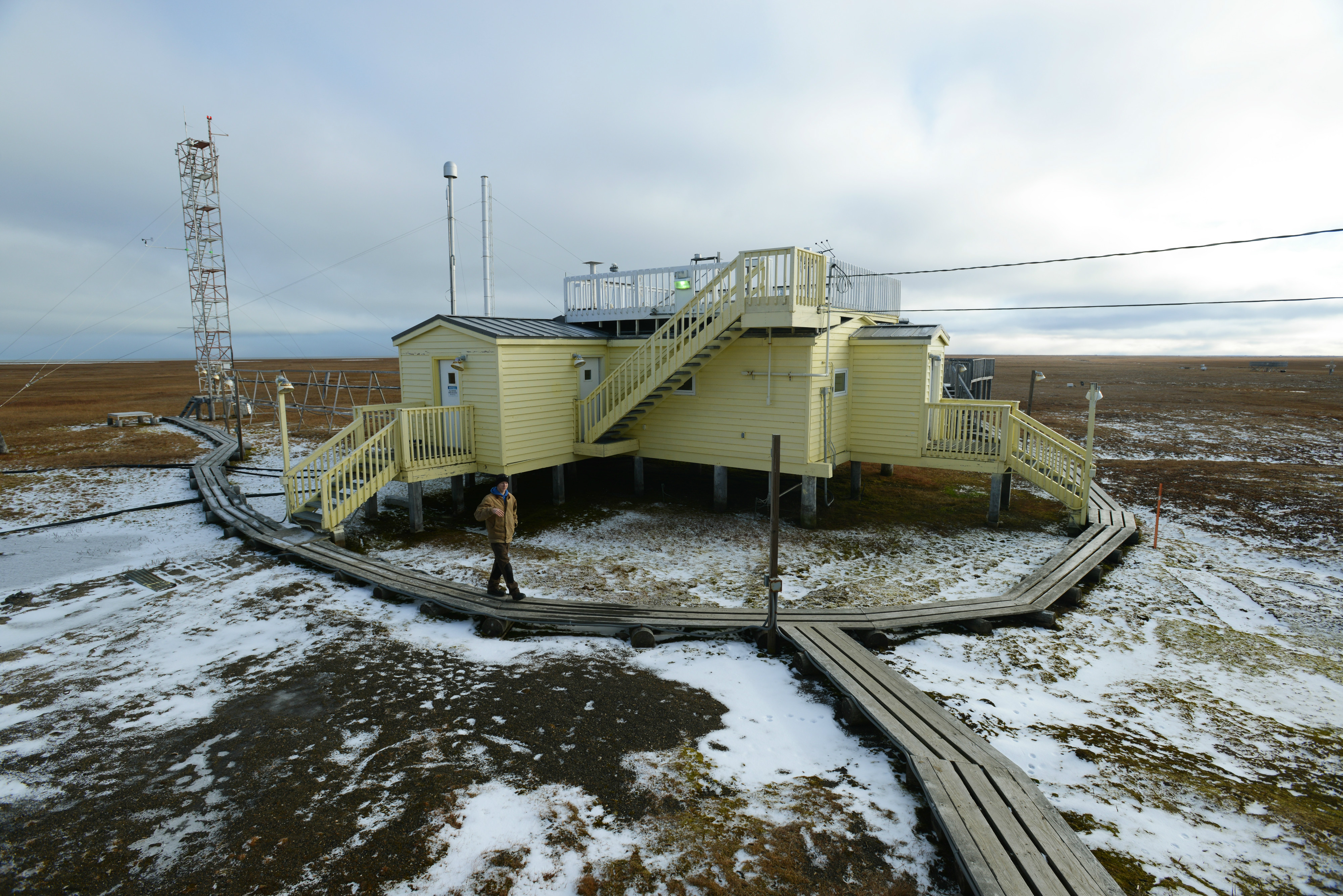 What tiny particles blowing in North Slope air tell us about oil-field pollution