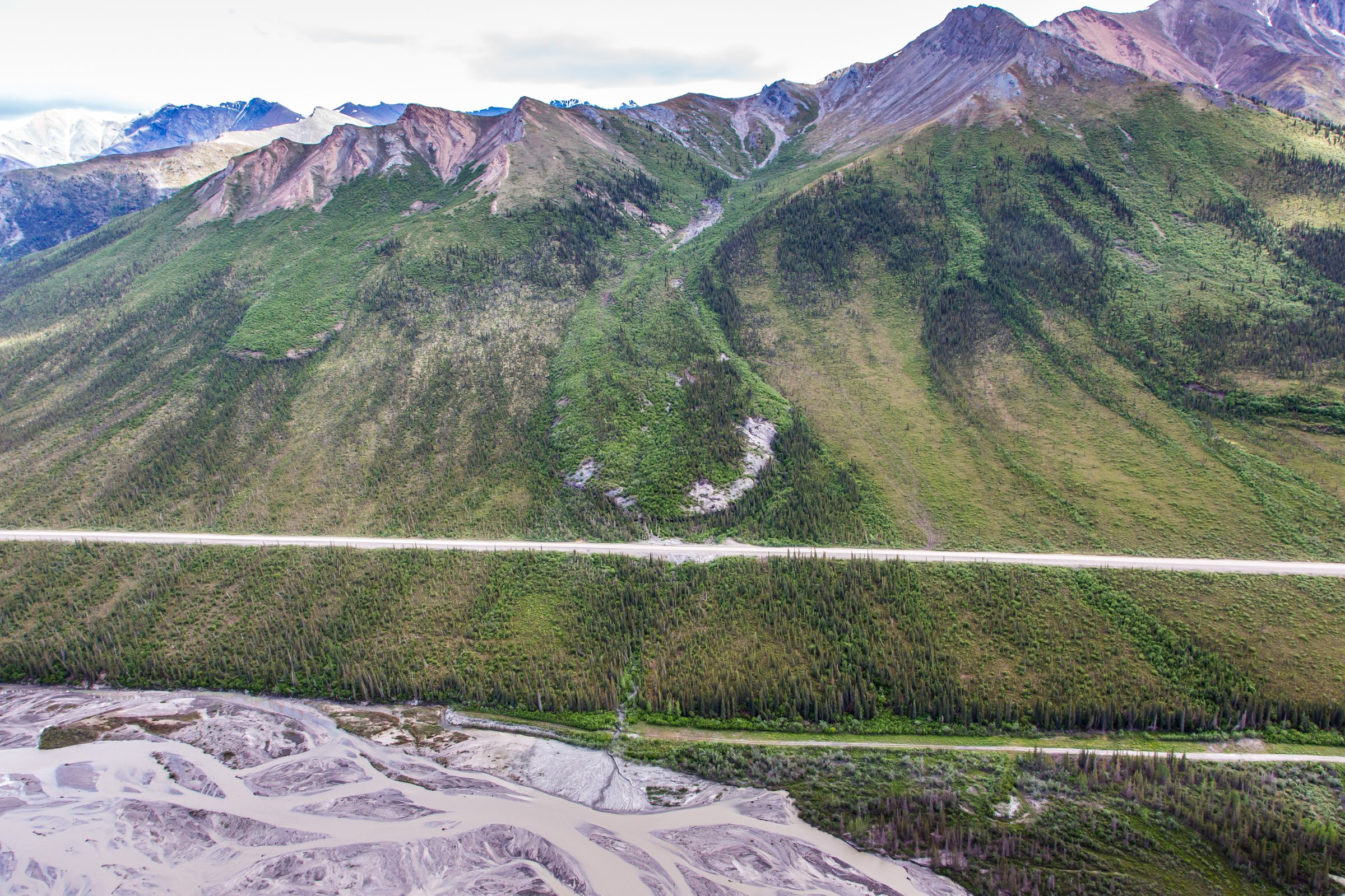 How a 'frozen debris lobe' threatens Alaska's only highway to the Arctic