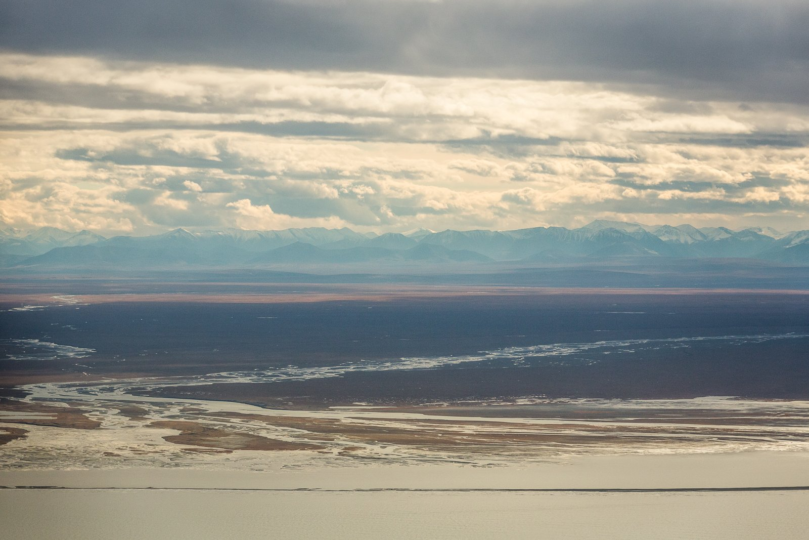 The Canning River, in the 1002 area of the Arctic National Wildlife Refuge, with the Brooks Range in the distance (Loren Holmes / Alaska Dispatch News archive)