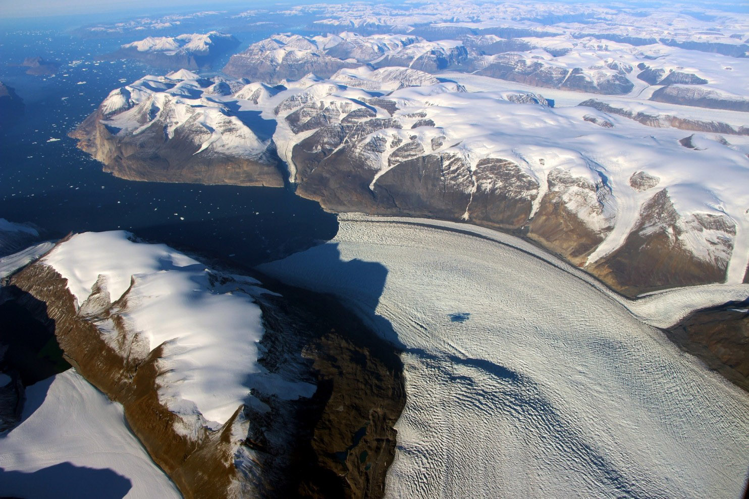 So much water pulsed through a melting glacier that it warped the Earth's crust