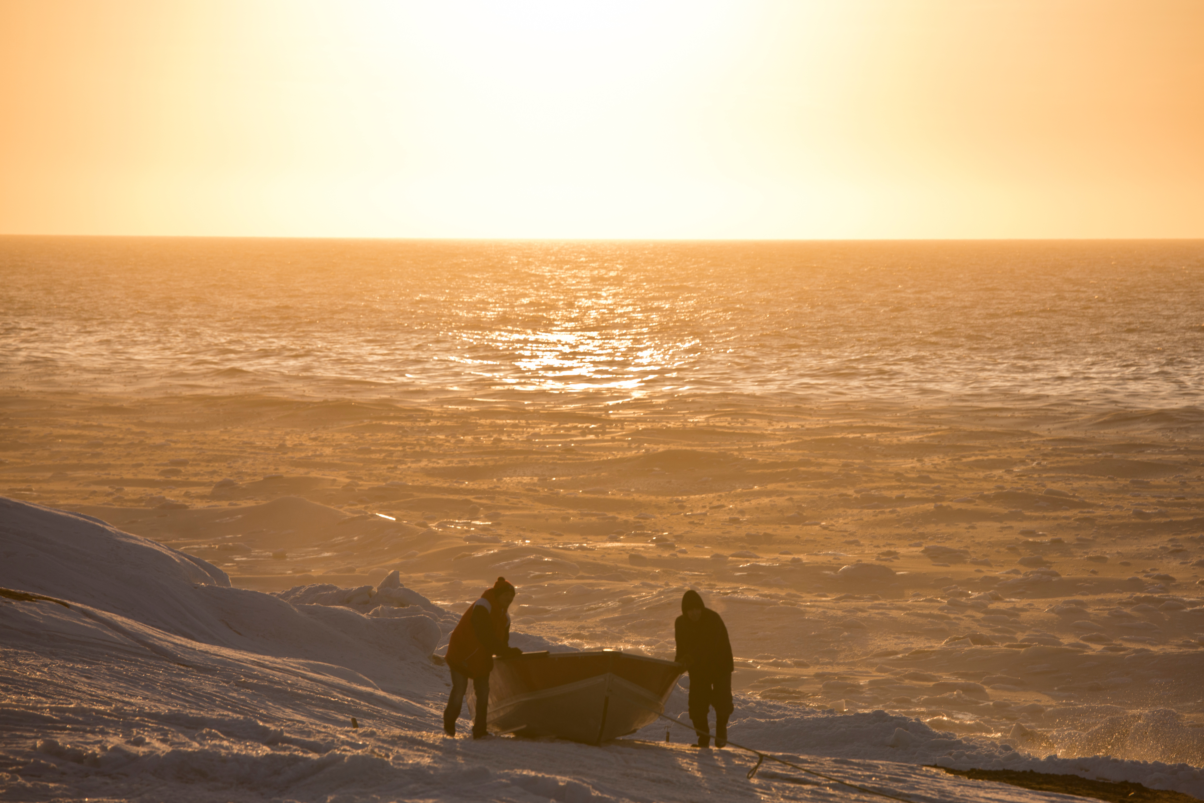 Video: Savoonga residents describe changes in spring sea ice