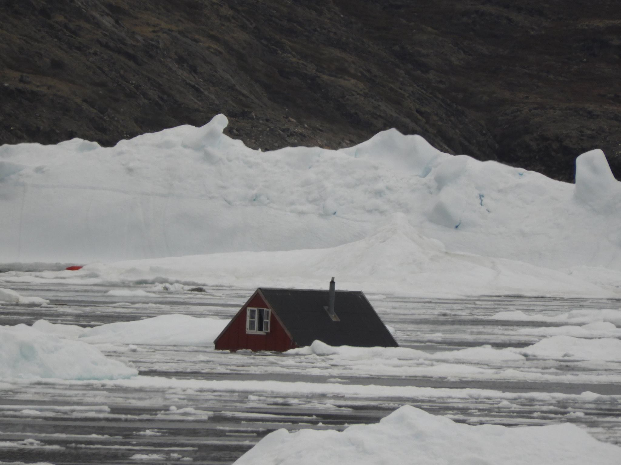 A flooded home in Nuugaatsiaq, after a tsunami struck the remote Greenland village. (Palle Lauritsen / Arctic Joint Command)