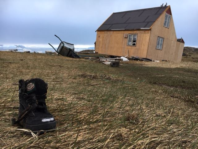 Debris is left behind after a tsunami struck the village of Nuugaatsiaq in Greenland. (Steffen Fog / Arctic Joint Command)