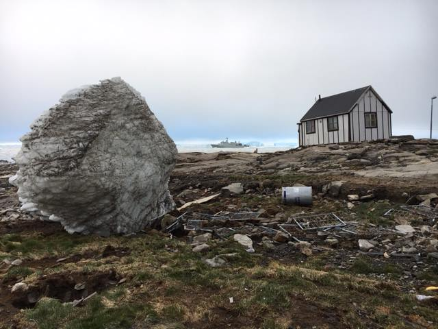 The aftermath of a tsunami in the village of Nuugaatsiaq in Greenland, (Steffen Fog / Arctic Joint Command)