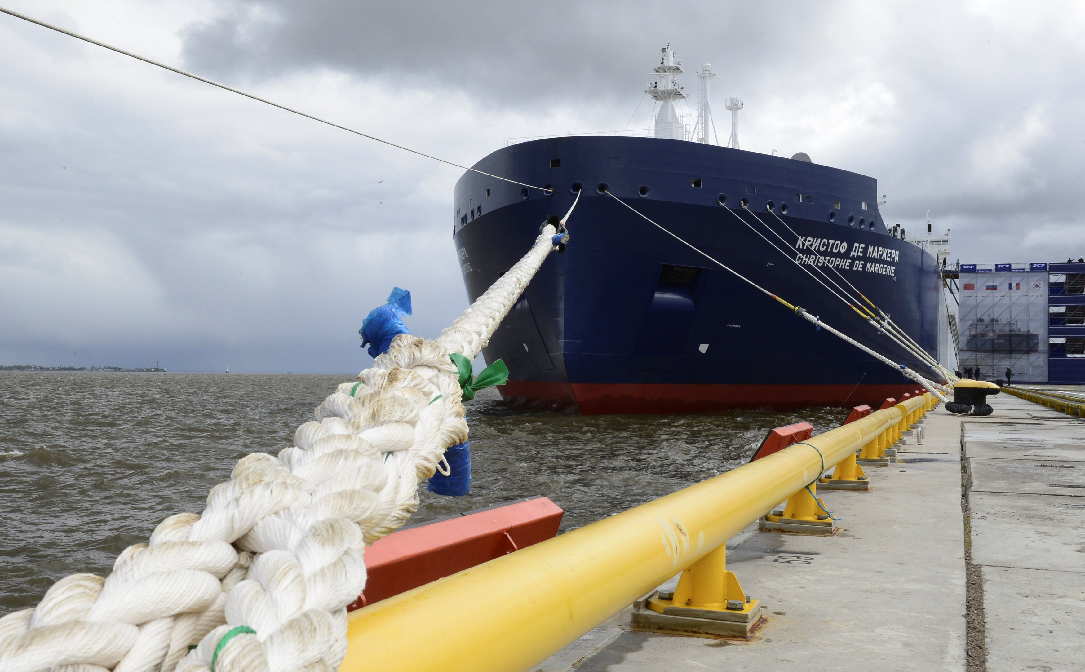 At naming ceremony for Russia's icebreaking LNG tanker, Putin advances vision of Arctic energy future