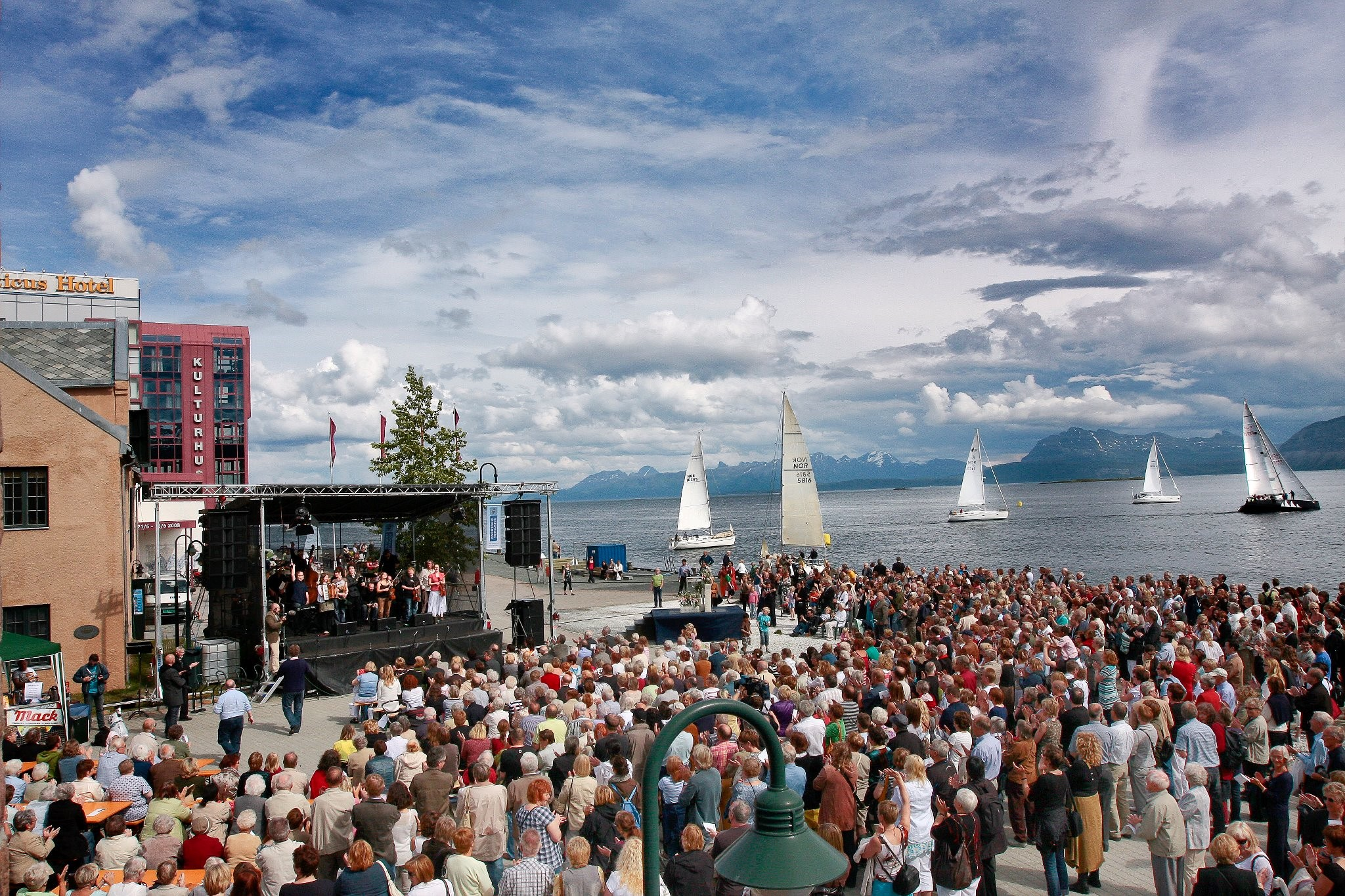 Some 30,000 people visit Harstad (pop. 25,000) for Festspillene i Nord-Norge. (Courtesy Festspillene i Nord-Norge)
