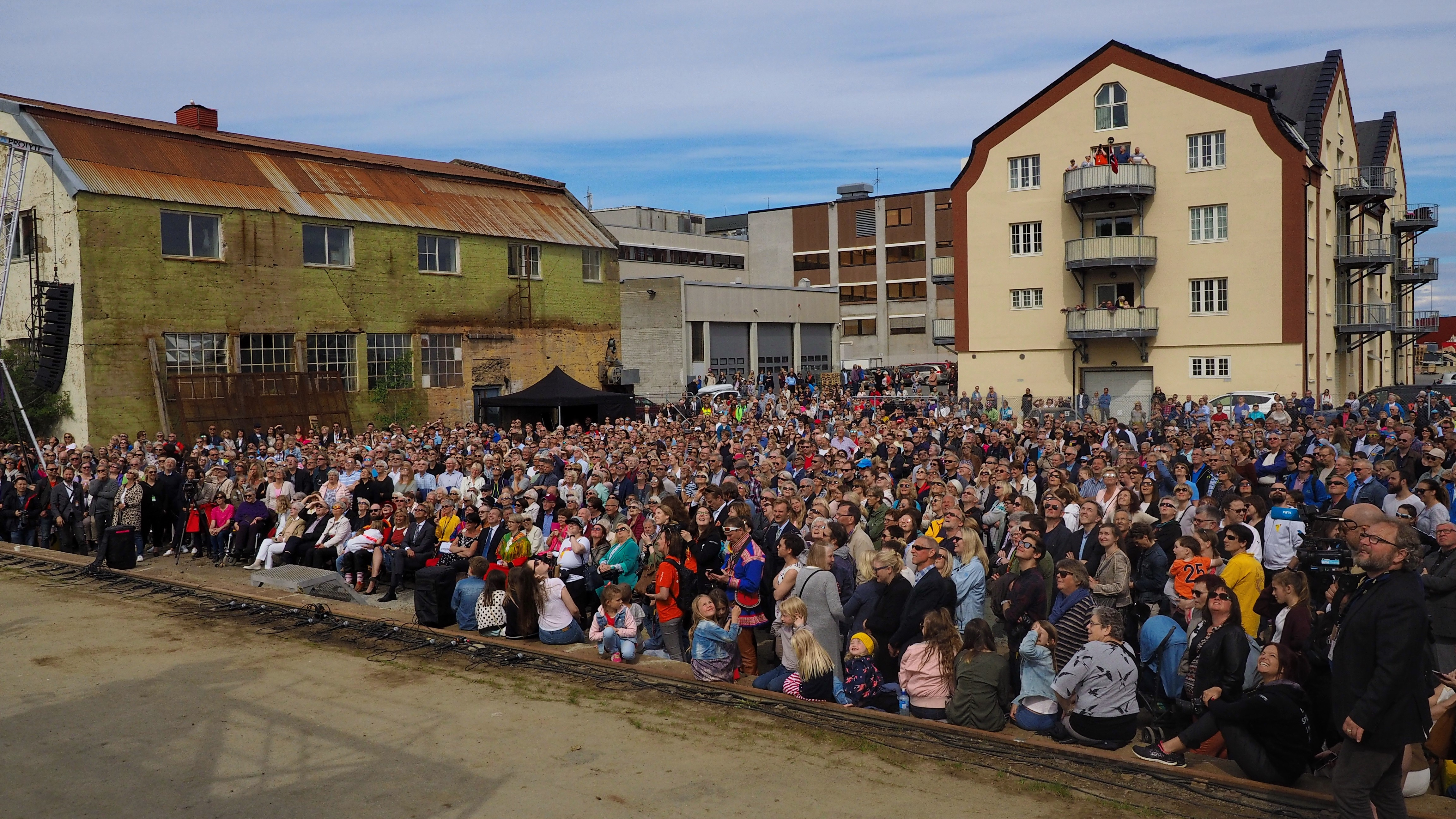 Saturday's opening of Festspillene i Nord-Norge, an annual cultural festival that this year has artists from all eight Arctic countries on its program. (Roger Hennum / Festspillene i Nord-Norge)