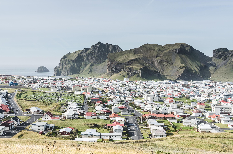 The town of Vestmannaeyjar, in Iceland's Westman Islands. (Getty)