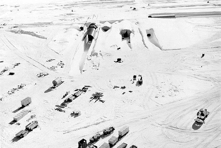 Portable nuclear energy generators at Camp Century, Greenland. (U.S. Army)