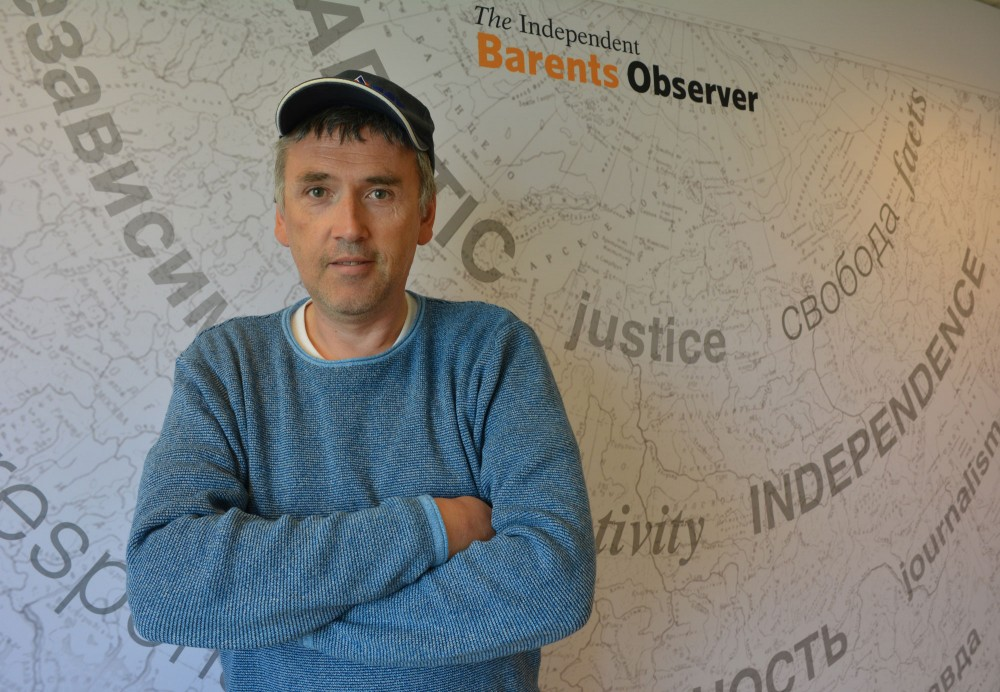 Independent Barents Observer Editor Thomas Nilsen is suing Russia's FSB to overturn a decision barring him from entering that nation for five years. (Atle Staalesen/ The Independent Barents Observer)