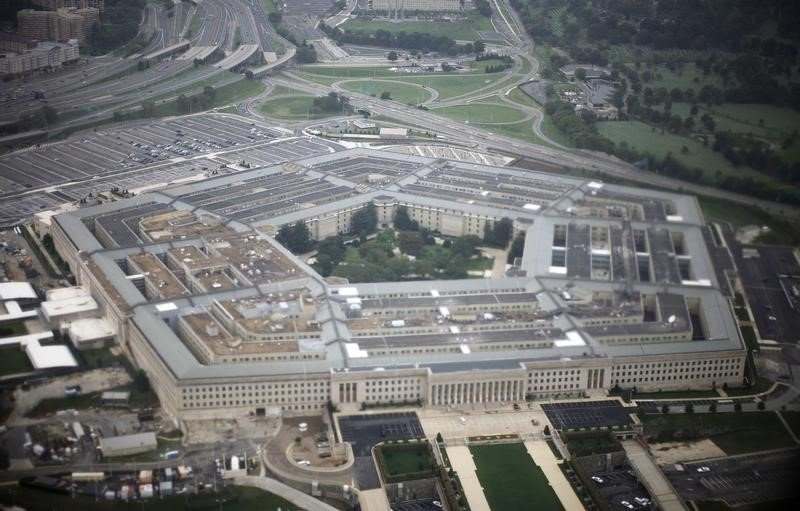 Aerial view of the United States military headquarters, the Pentagon, September 28, 2008. (Jason Reed / Reuters)