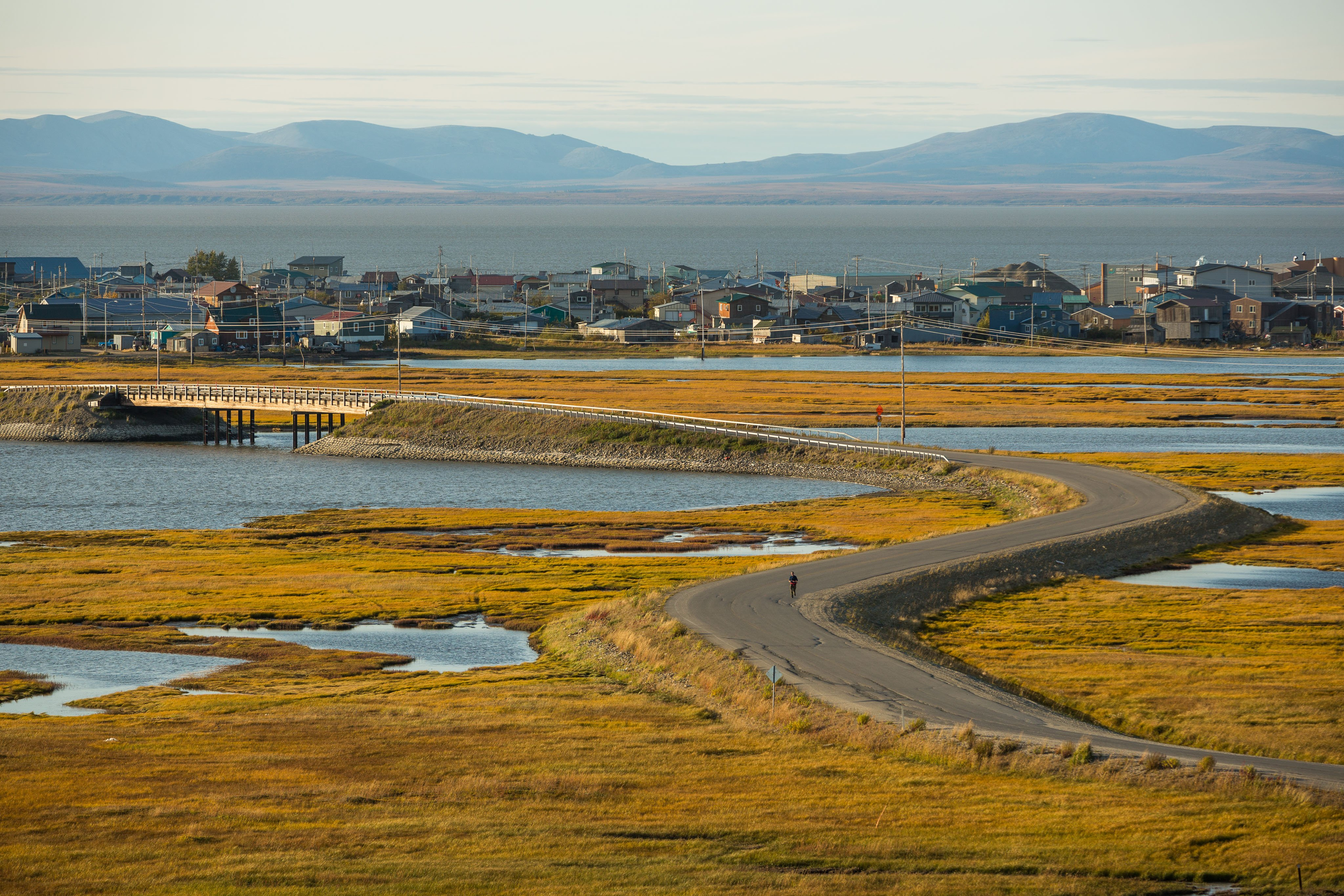 The town of Kotzebue, Alaska, on Monday, August 31, 2015. President Obama will visit the Northwest Arctic community on Wednesday, the first time a president will set foot in the American Arctic. (Loren Holmes / Alaska Dispatch News)