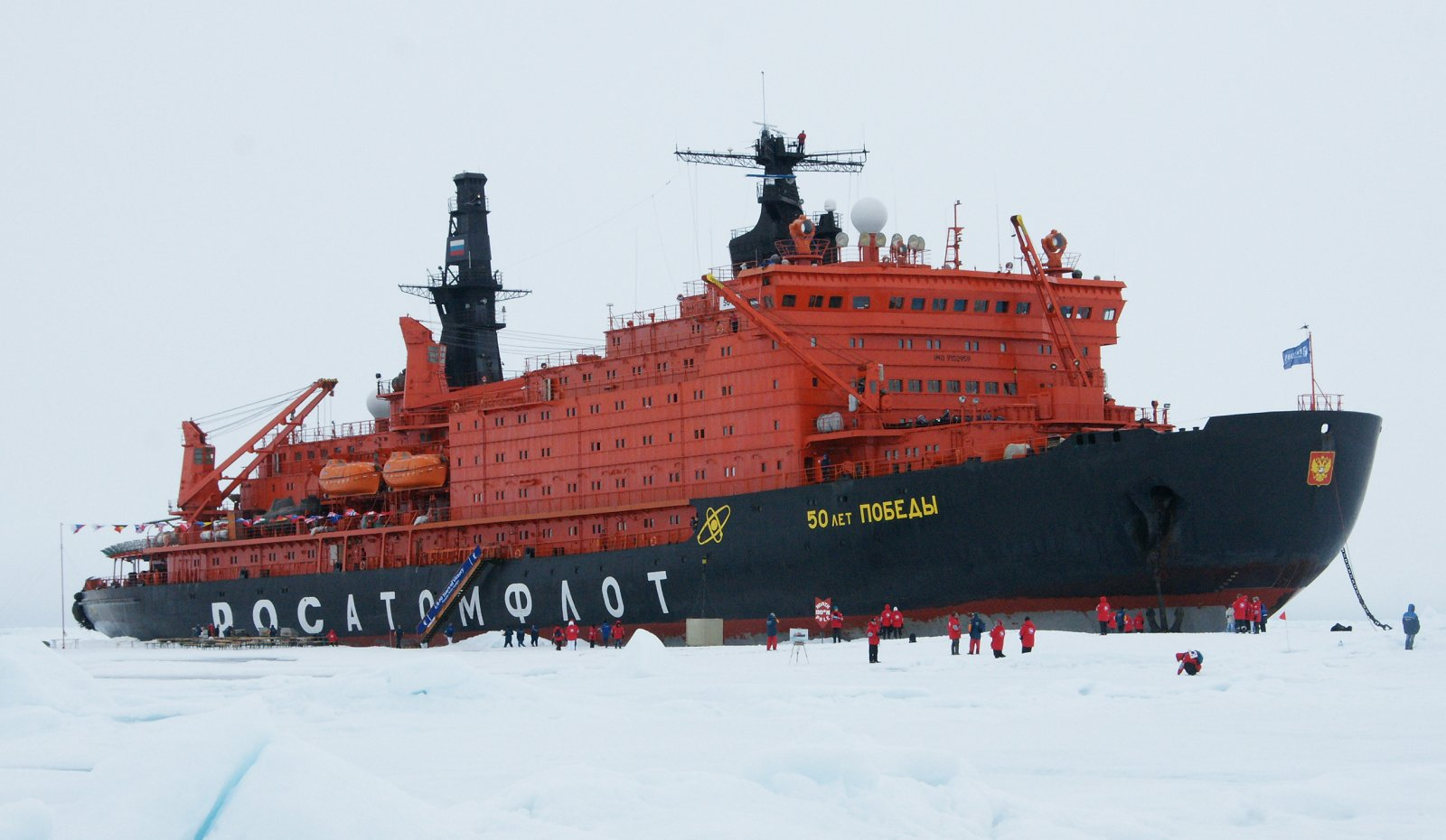Russian icenreakers 50 let Pobedy' (Russia) on North 88° in 2012. (CC via Wikimedia Commons)