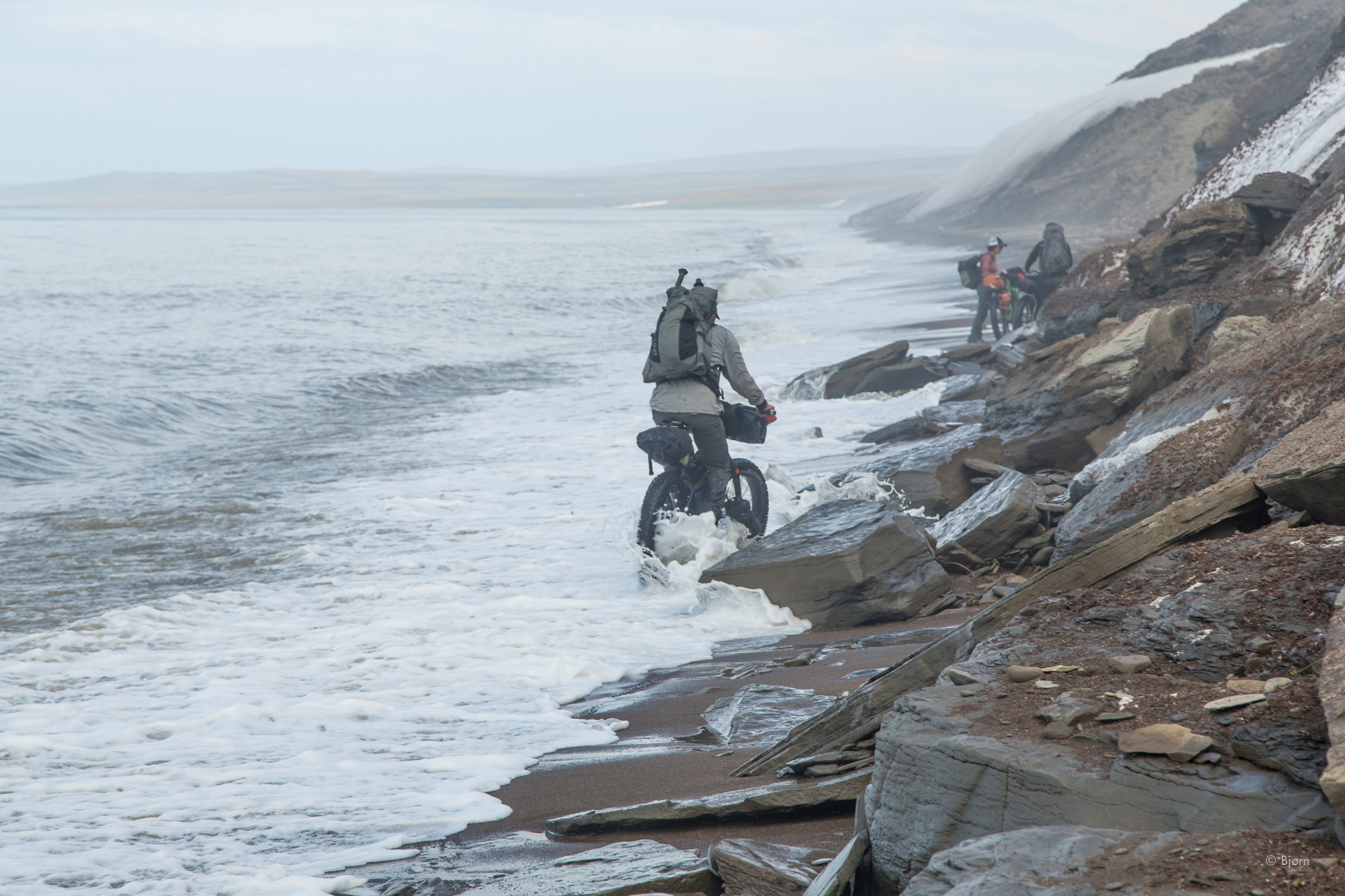Fat-biking through fierce winds, from Point Hope to Utqiagvik