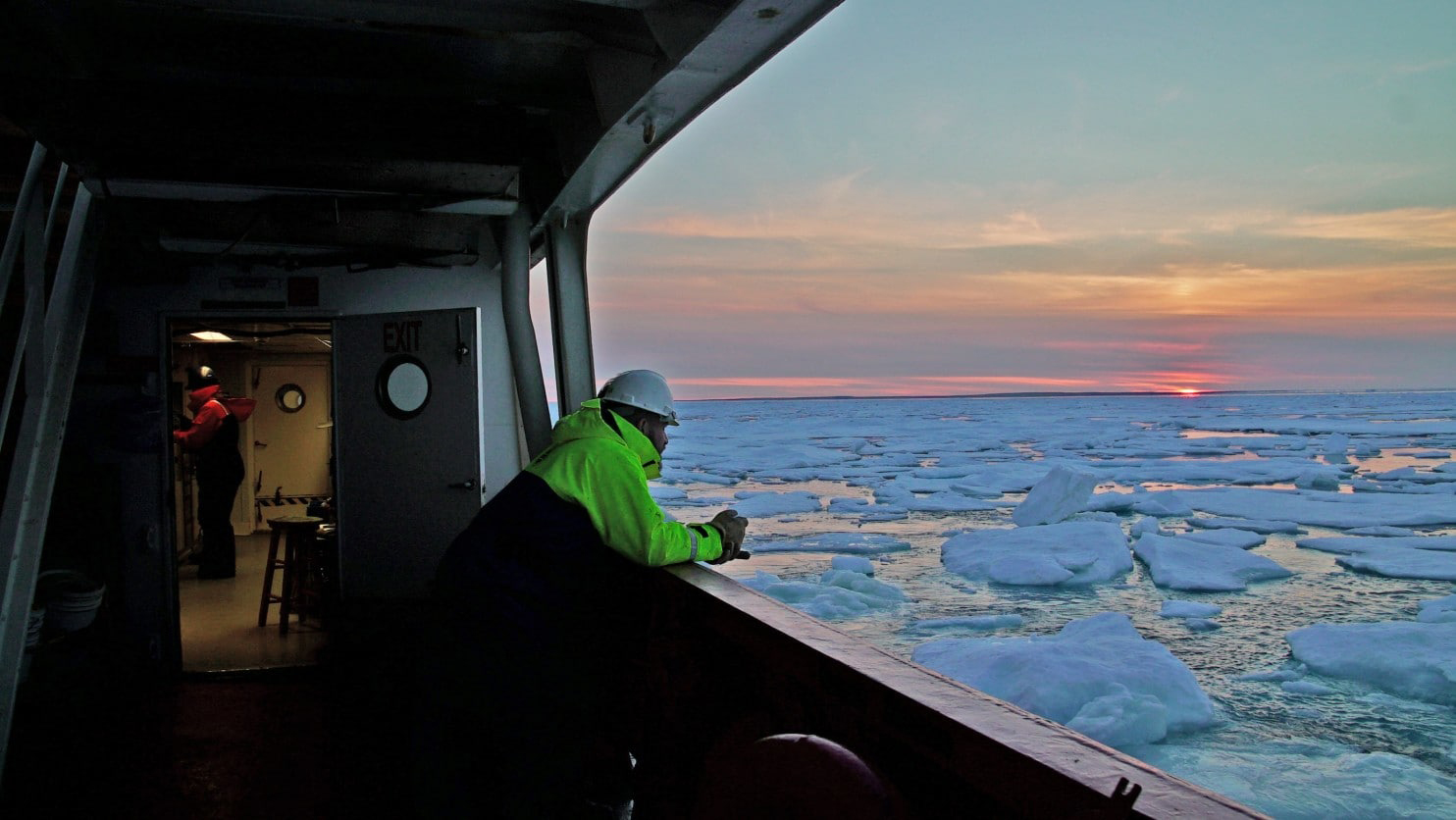What it's like to ride a 6,000-ton icebreaker through Arctic waters