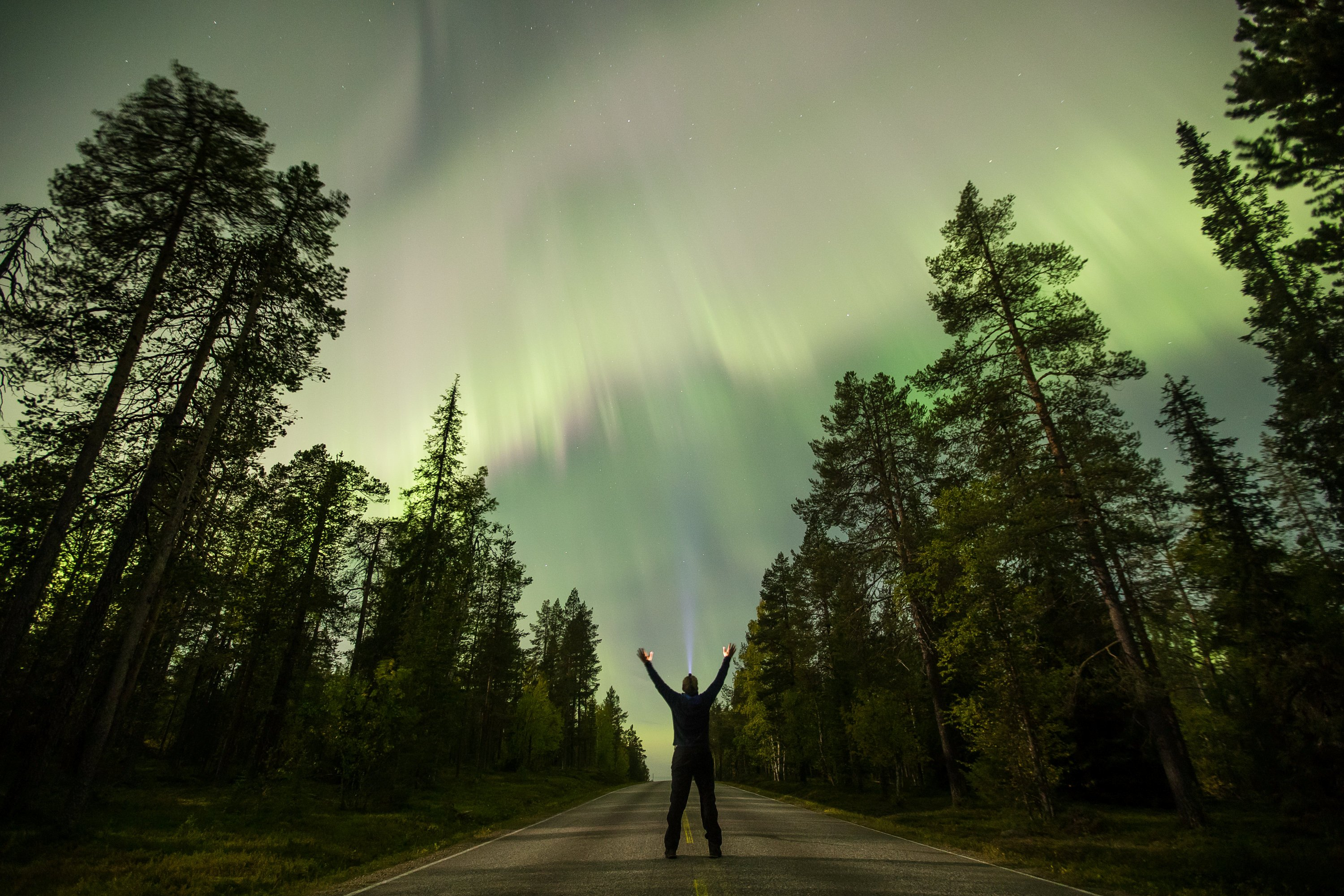 The Aurora Borealis (Northern Lights) is seen over the sky near the village of Pallas (Muonio region) of Lapland, Finland September 8, 2017. REUTERS/Alexander Kuznetsov/All About Lapland