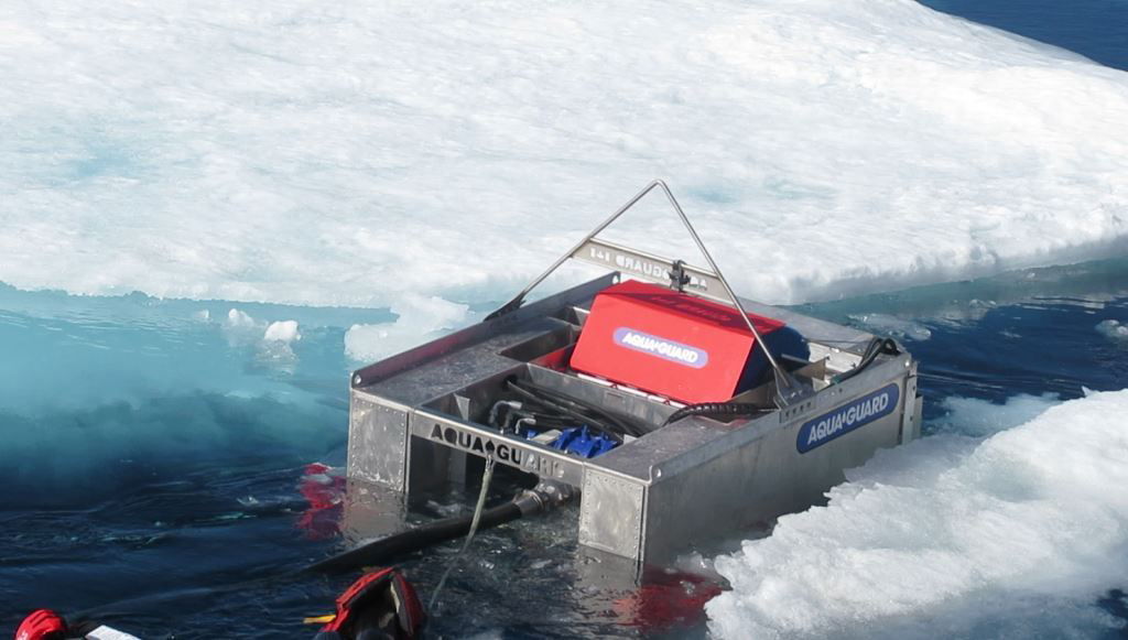 U.S. Coast Guard tests new oil spill technology as Arctic waters open up