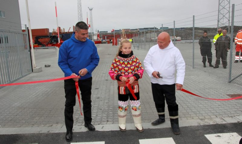 Nuuk's new port facility is open for business