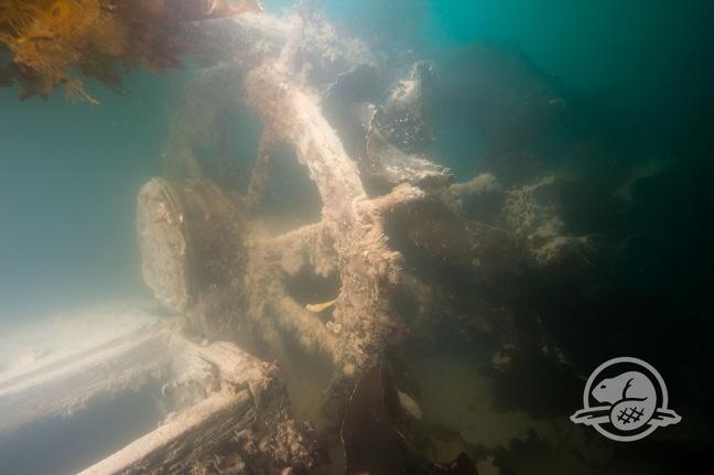 The ship's wheel of the HMS Terror, in 2016. (Courtesy Parks Canada via Nunatsiaq News)