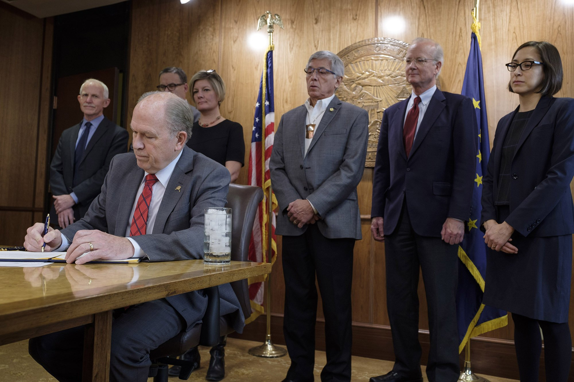 Alaska governor announces a plan for the state to meet Paris accord climate goals on its own